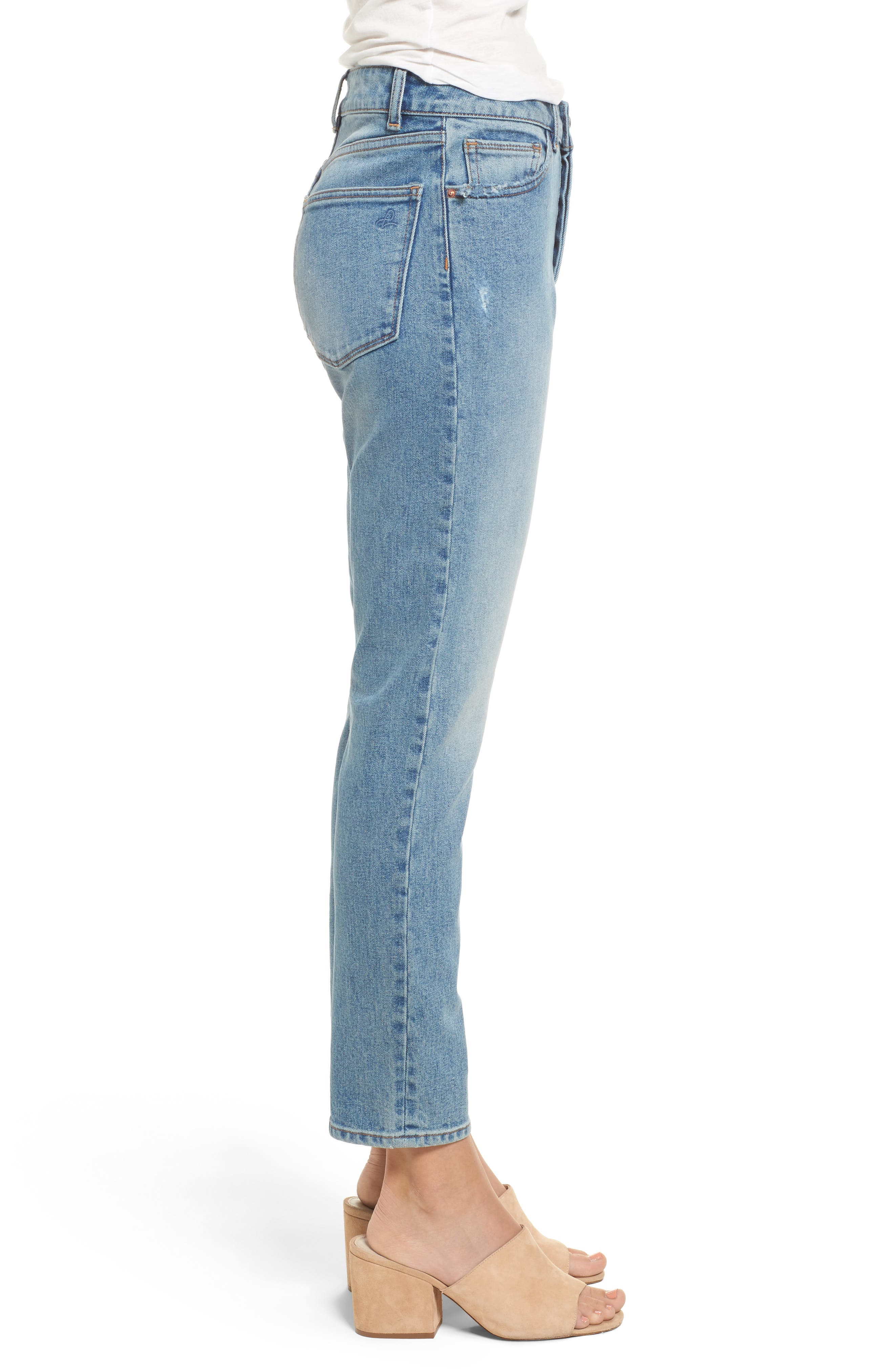 Bella High Waist Ankle Skinny Jeans,                             Alternate thumbnail 3, color,                             430