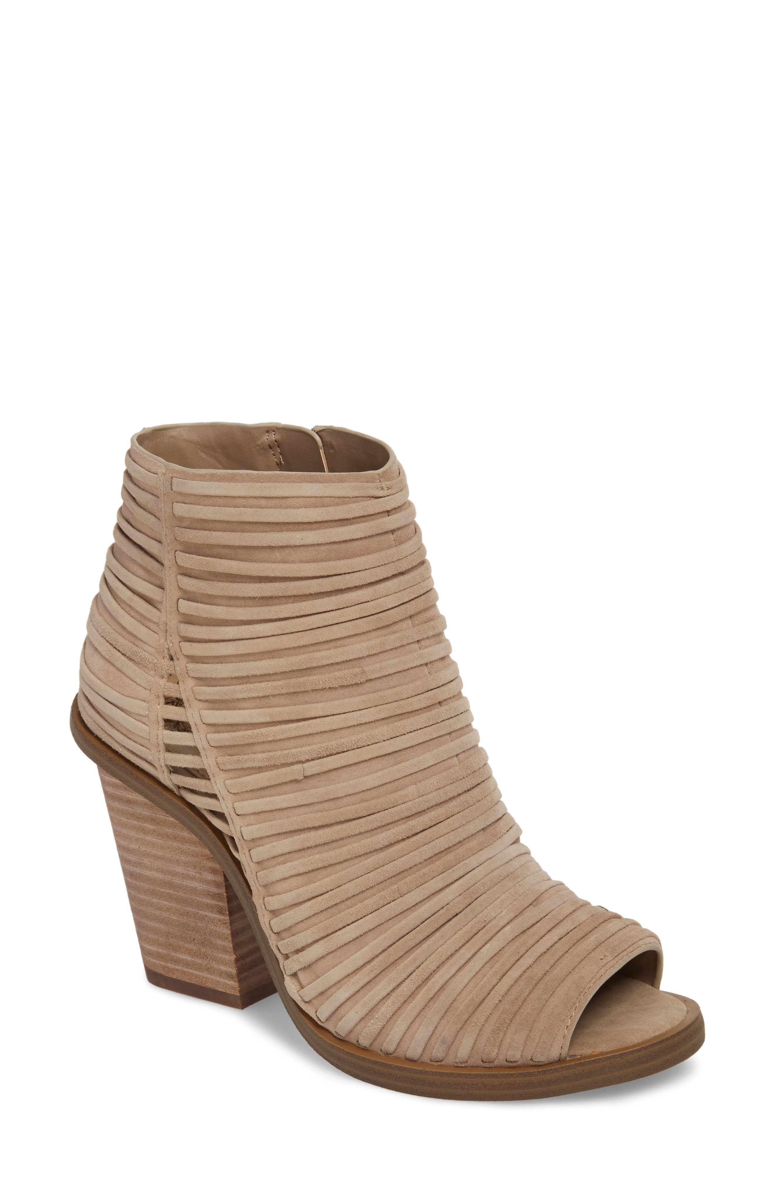 Feteena Bootie,                             Main thumbnail 1, color,                             FRENCH TAUPE SUEDE