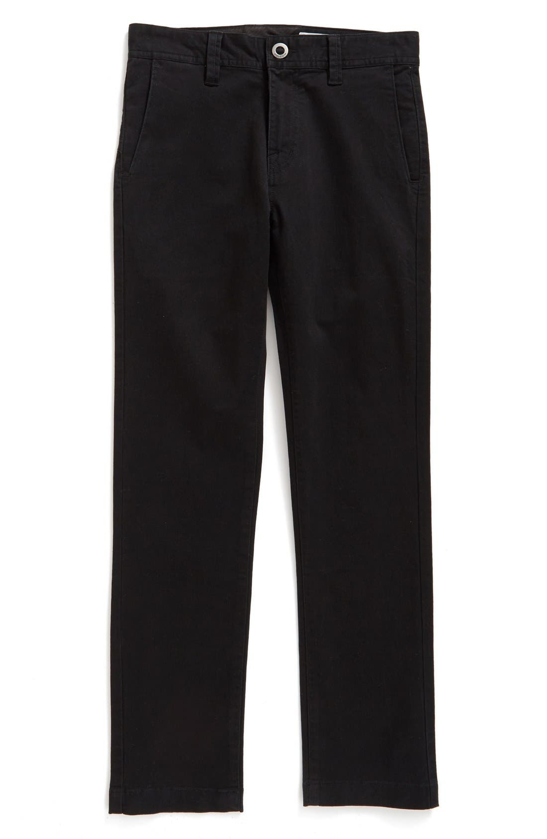Slim Fit Stretch Chinos,                         Main,                         color, BLACK