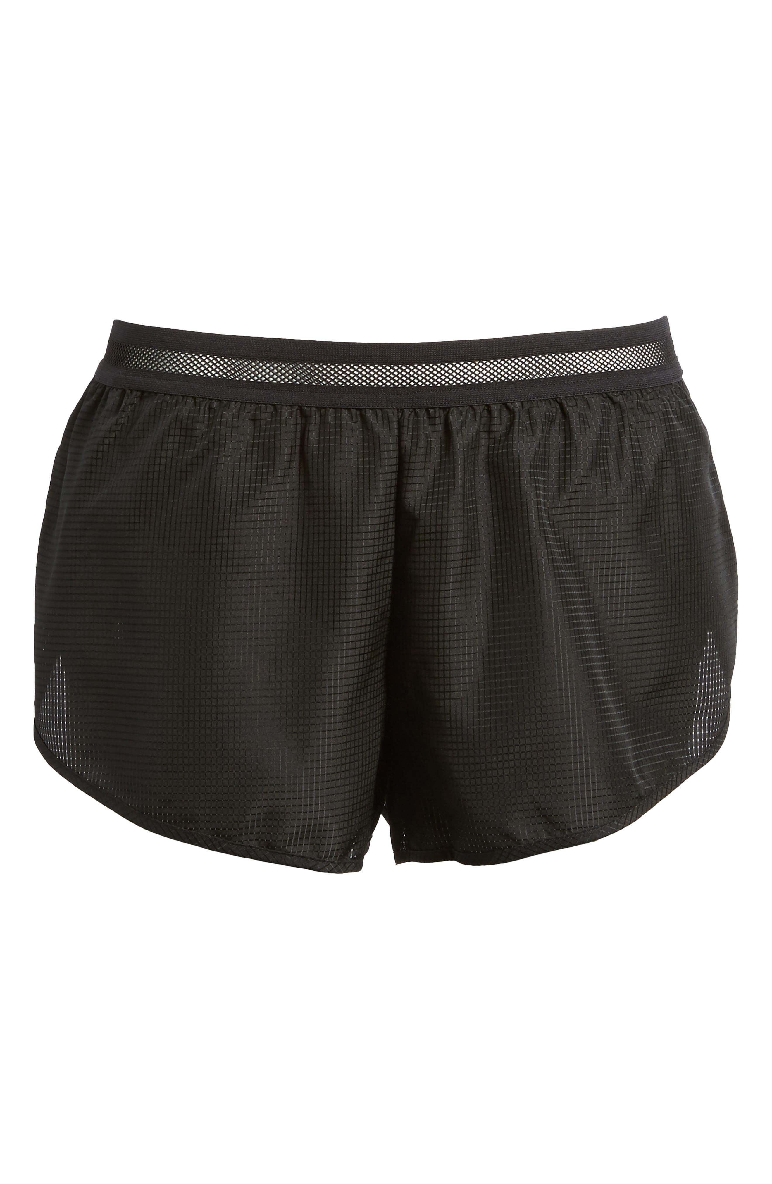 Logo Perforated Runner Shorts,                             Alternate thumbnail 7, color,                             001