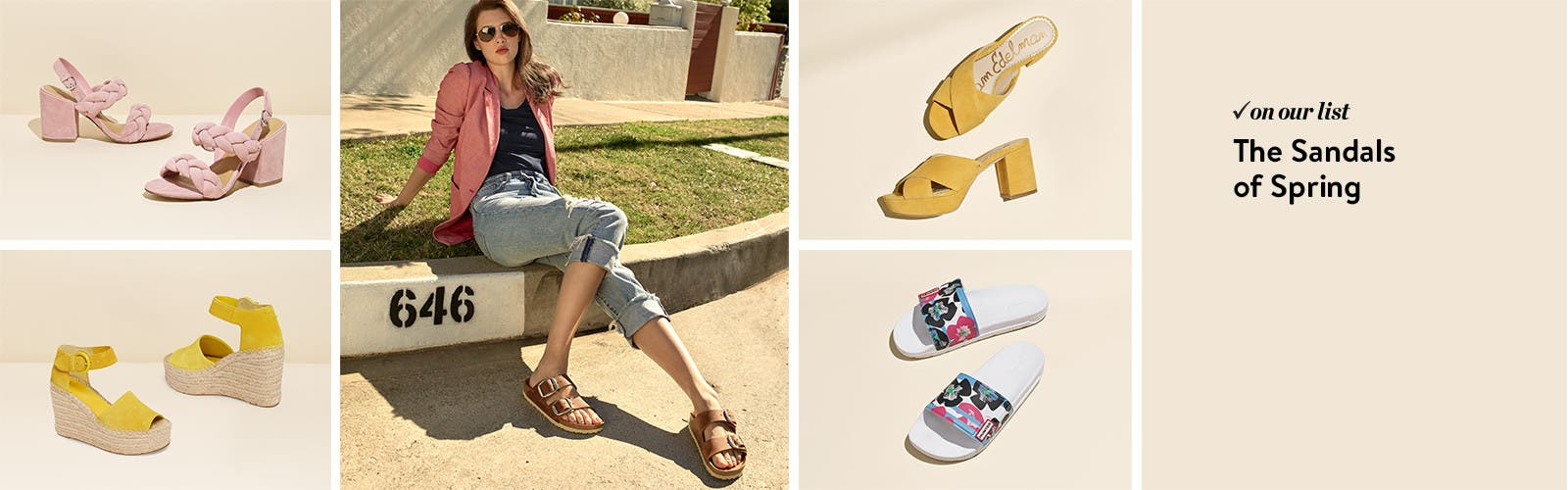 Women's sandals for spring.