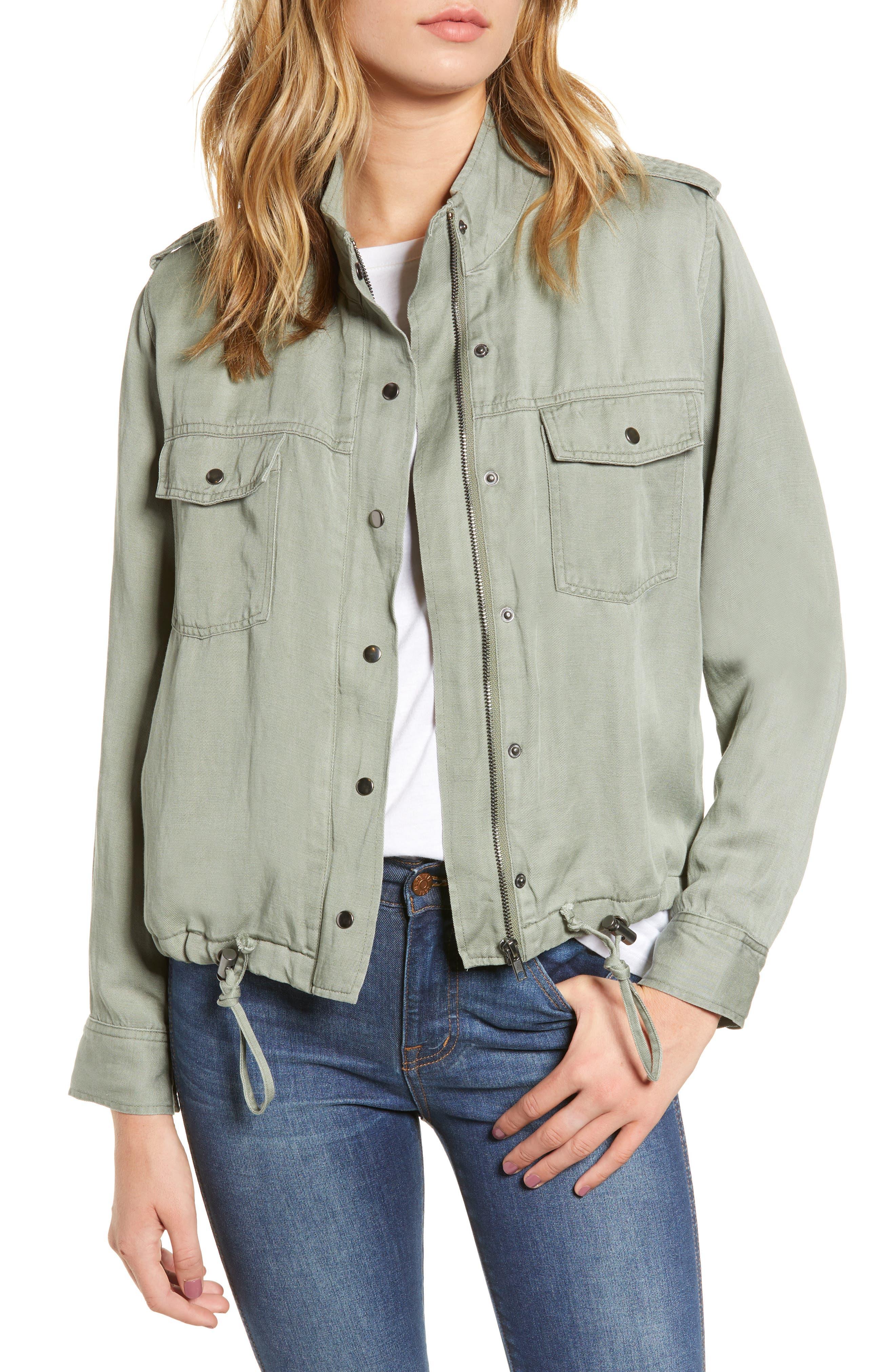 Collins Military Jacket,                         Main,                         color, SAGE