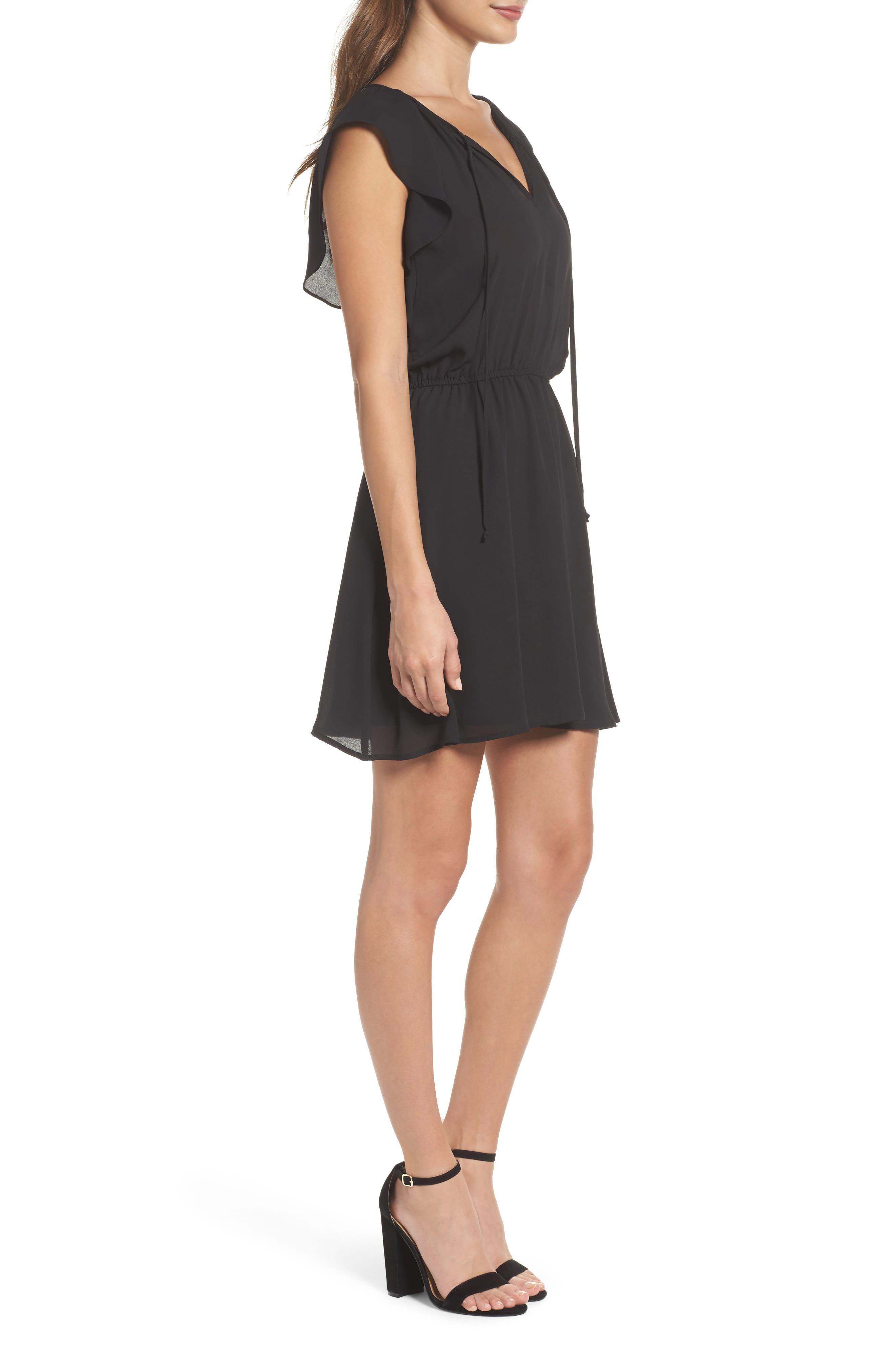 Adrienn Blouson Dress,                             Alternate thumbnail 3, color,                             001