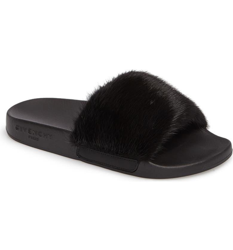 Givenchy Genuine Mink Fur Slide Sandal Women Nordstrom
