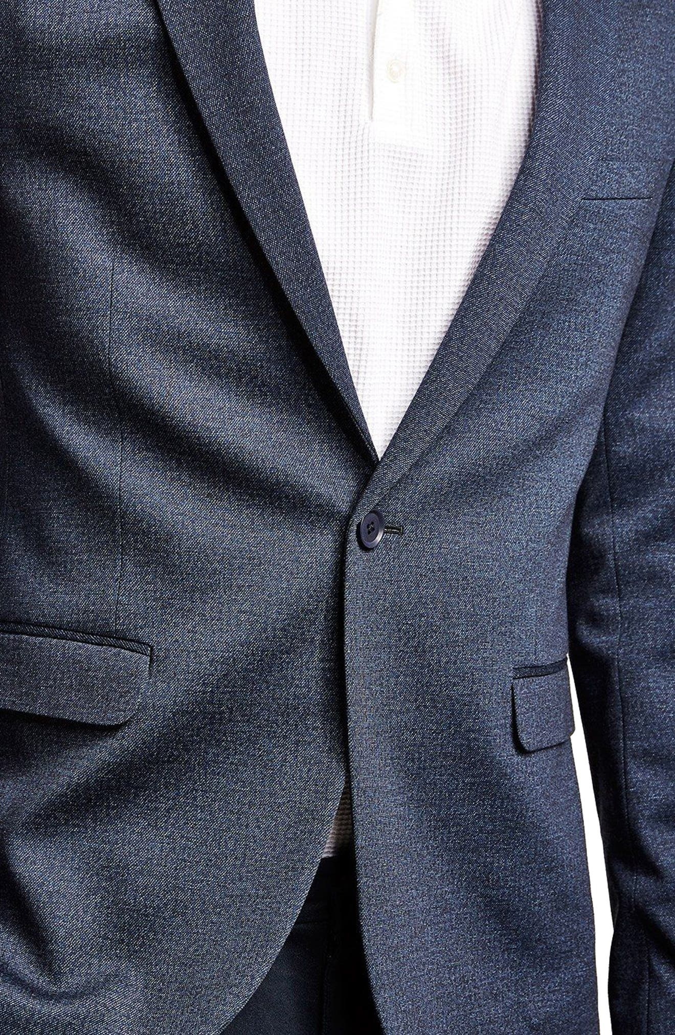 Classic Fit Sport Coat,                             Alternate thumbnail 3, color,                             DARK BLUE