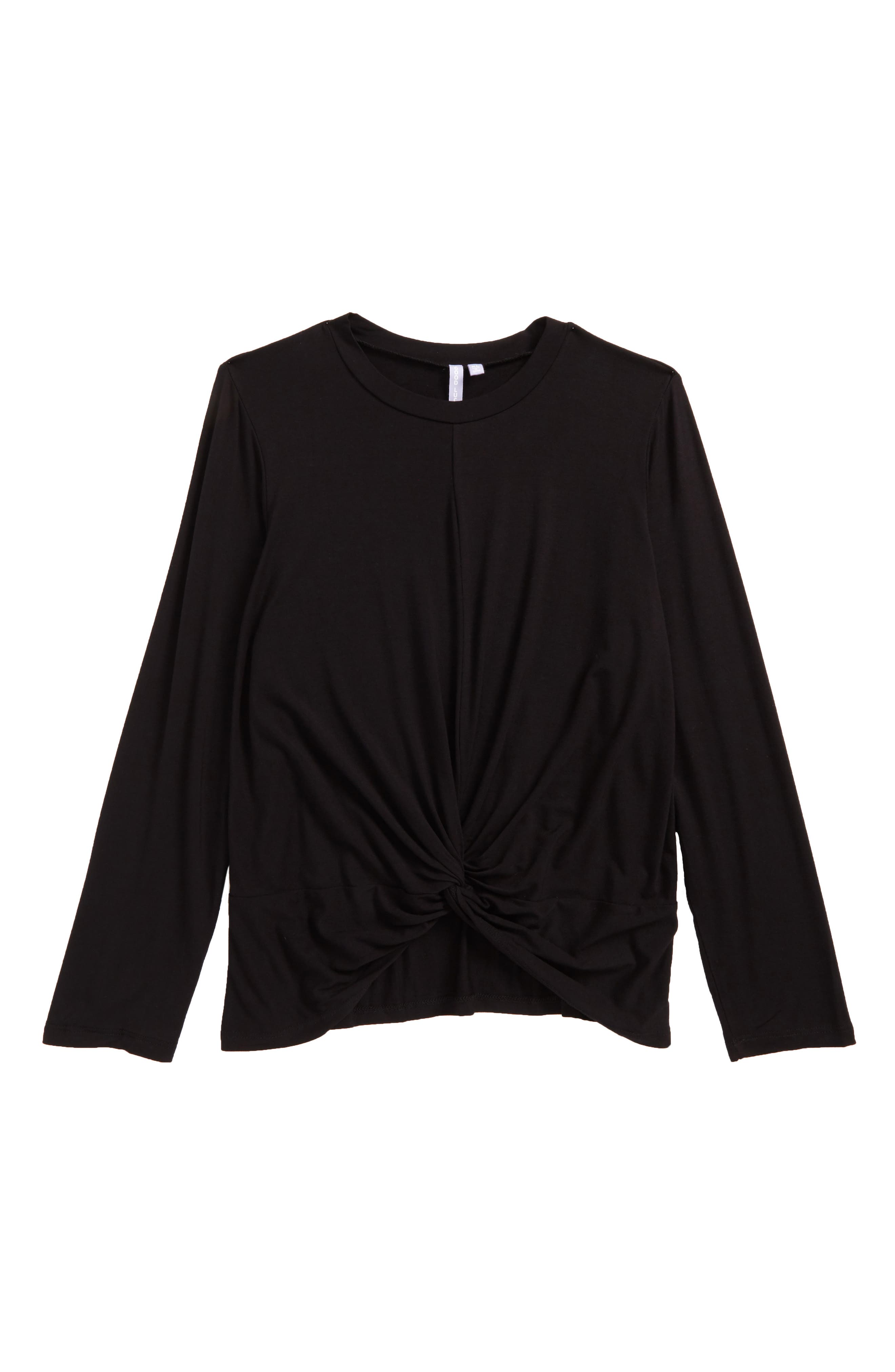 Twist Front Tee,                         Main,                         color, 001