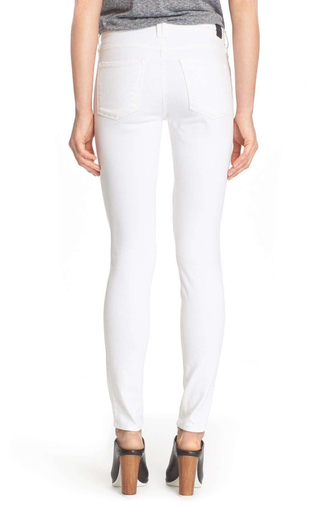 'Riley' Skinny Jeans,                             Alternate thumbnail 5, color,                             100