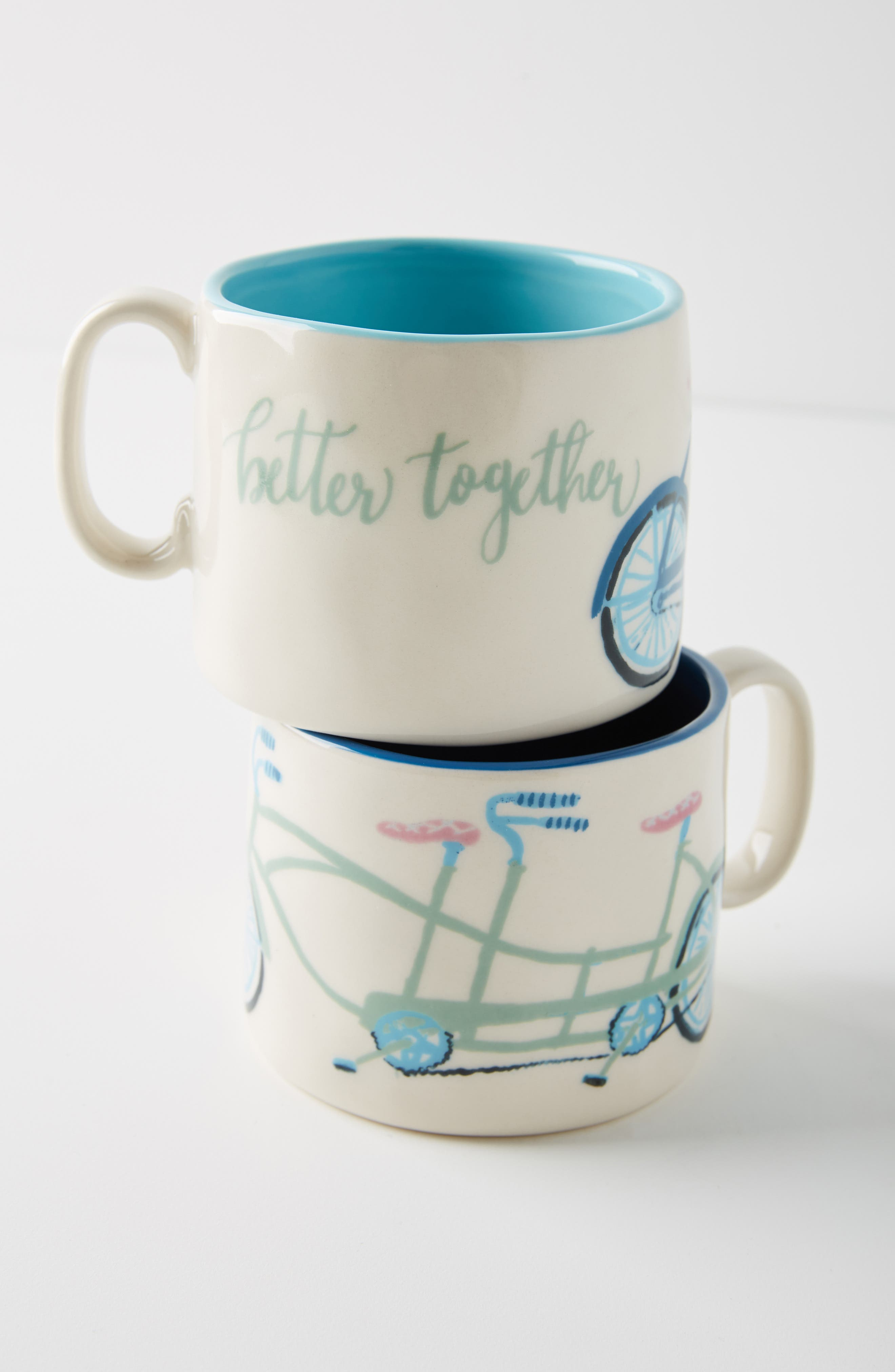 ANTHROPOLOGIE,                             Tandem Mug Set of 2 Mugs,                             Alternate thumbnail 2, color,                             BETTER TOGETHER
