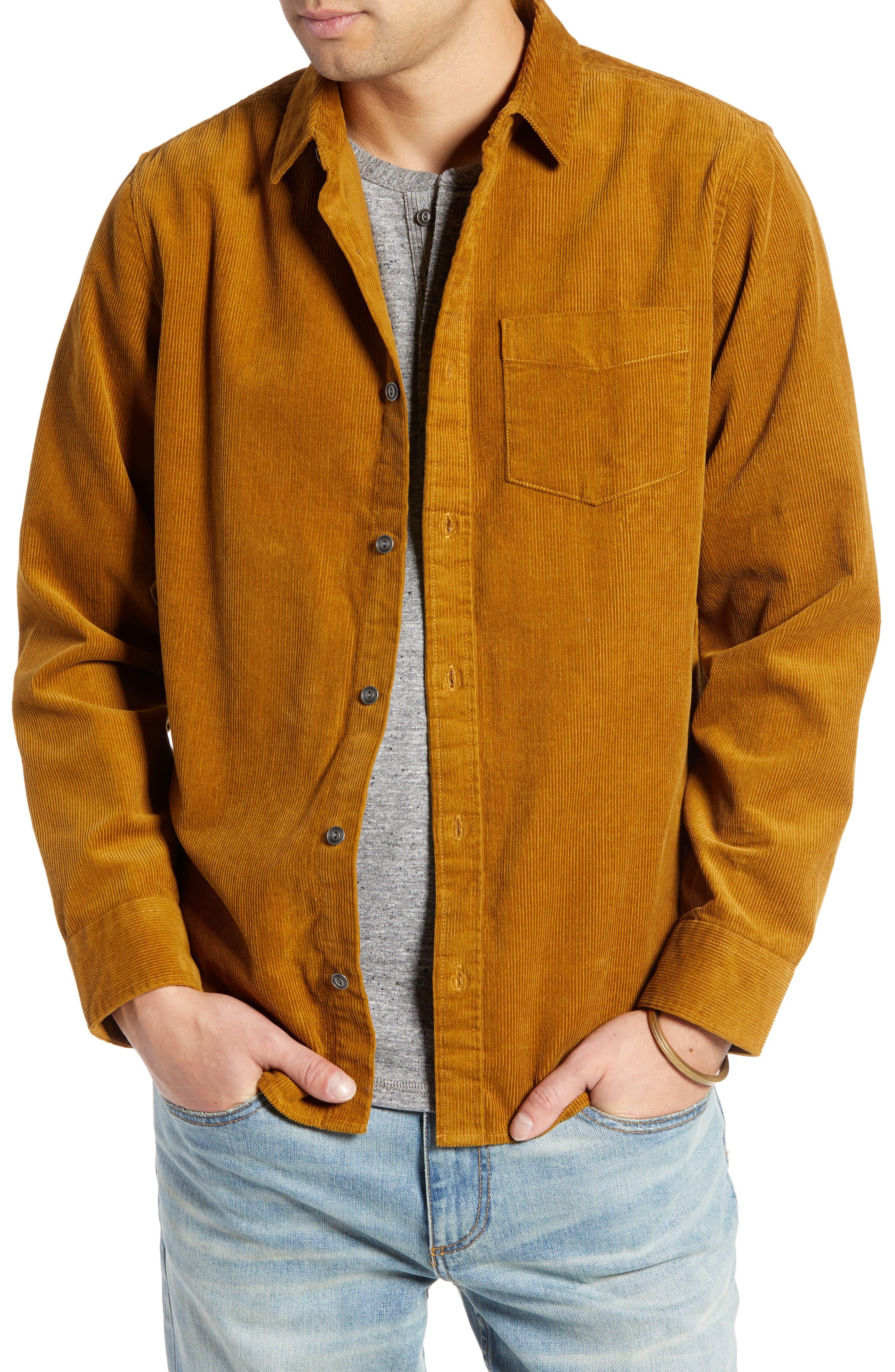 Regular Fit Corduroy Shirt Jacket,                             Main thumbnail 1, color,                             BROWN BRONZE