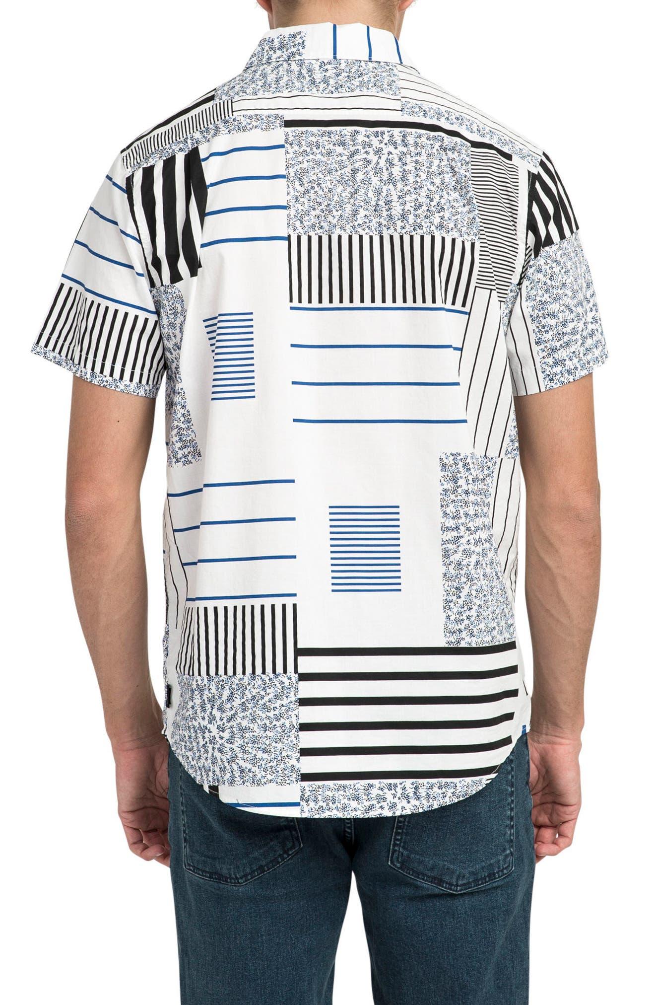 Mixed Linear Short Sleeve Shirt,                             Alternate thumbnail 2, color,                             150
