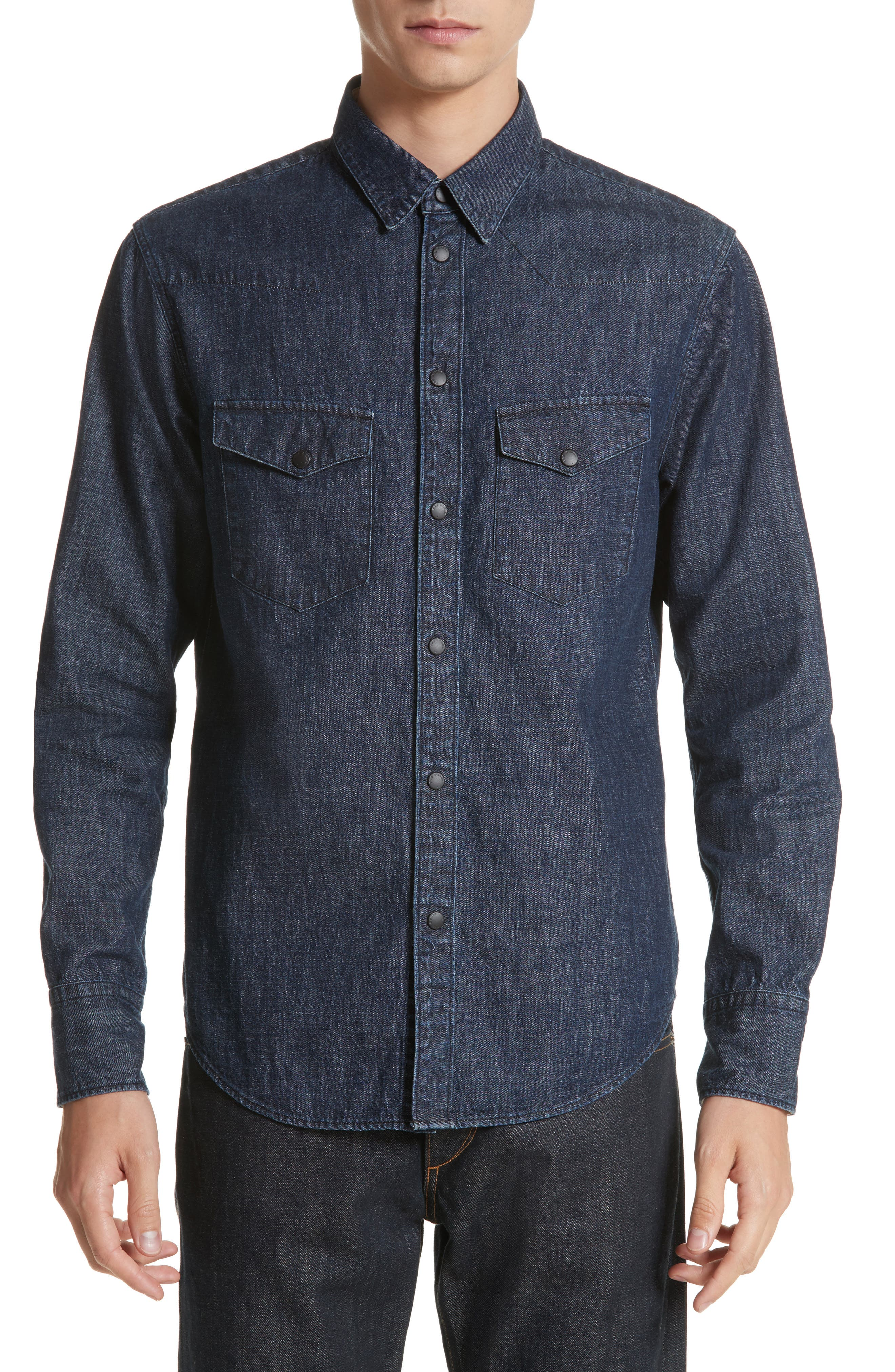Beck Denim Shirt,                         Main,                         color, 470