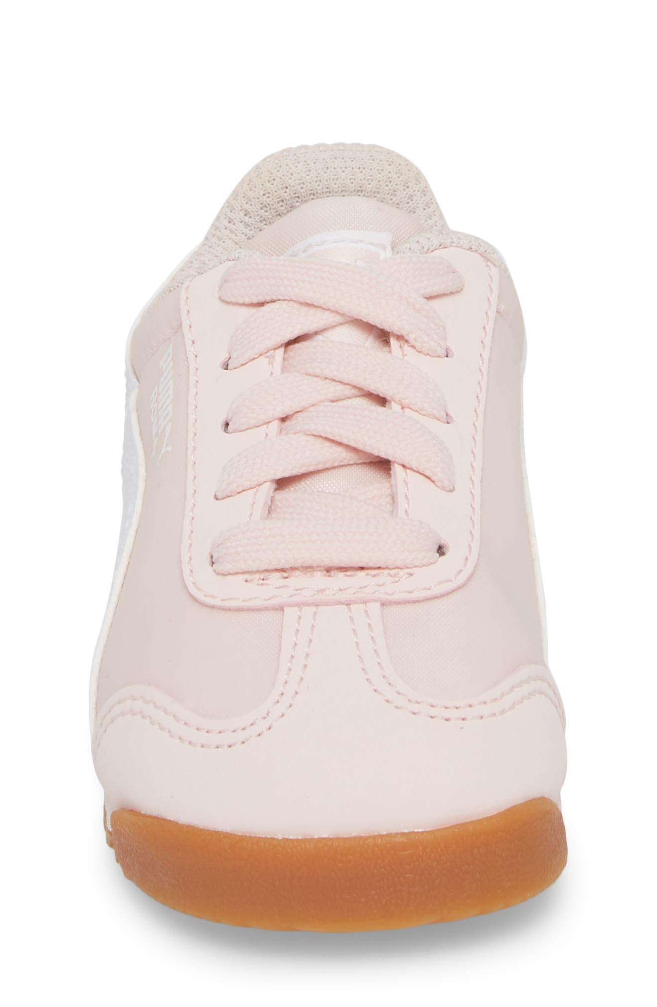 PUMA,                             Roma Basic Summer Sneaker,                             Alternate thumbnail 4, color,                             100