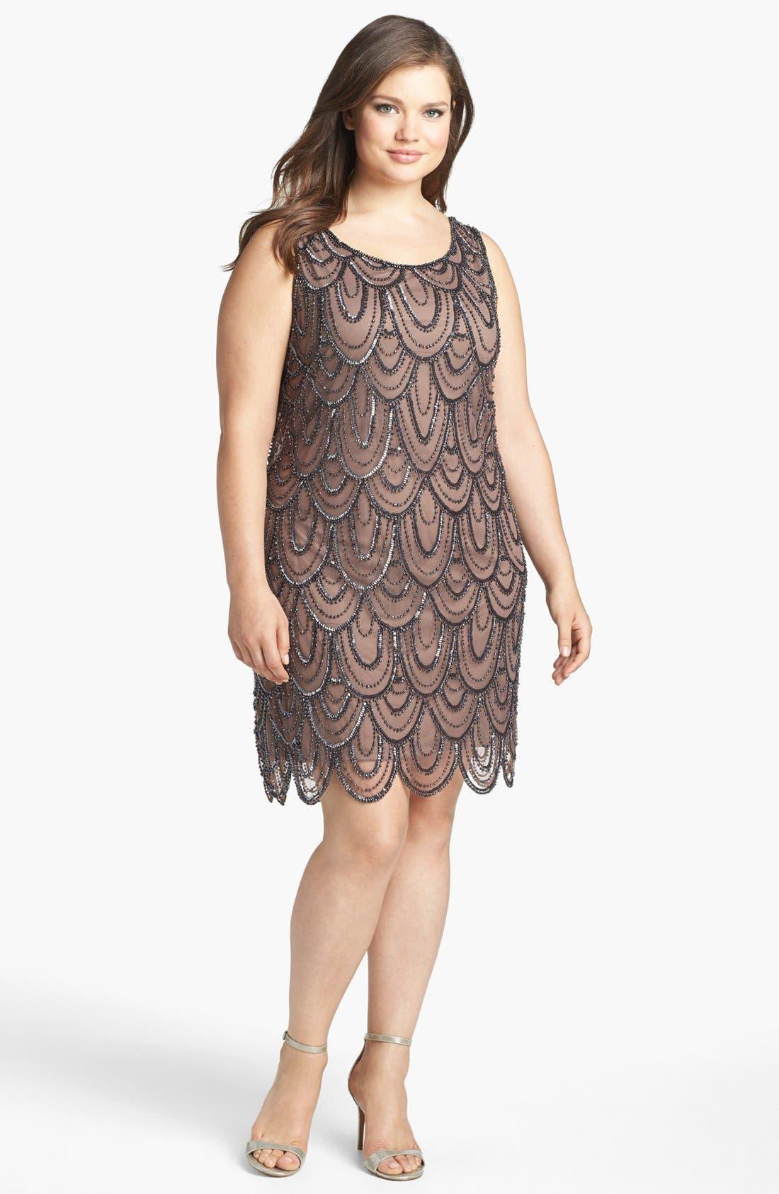 Beaded Sheath Dress,                             Alternate thumbnail 31, color,