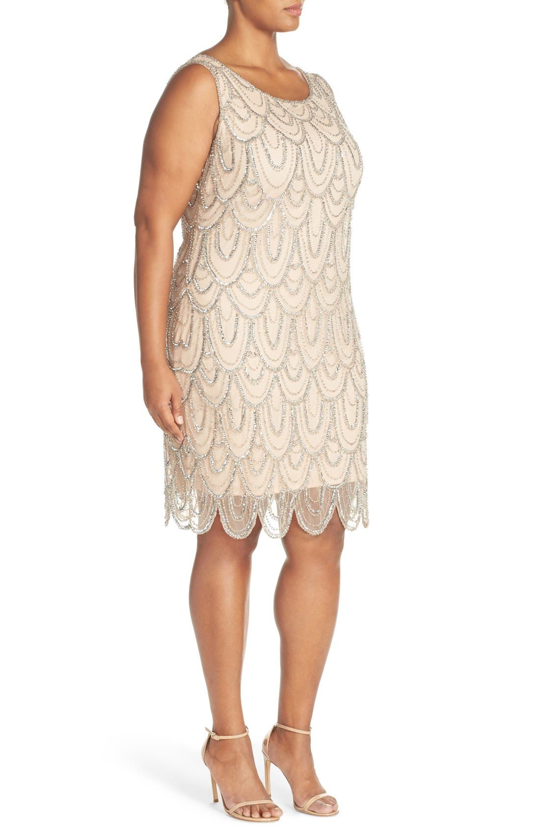 Beaded Sheath Dress,                             Alternate thumbnail 23, color,