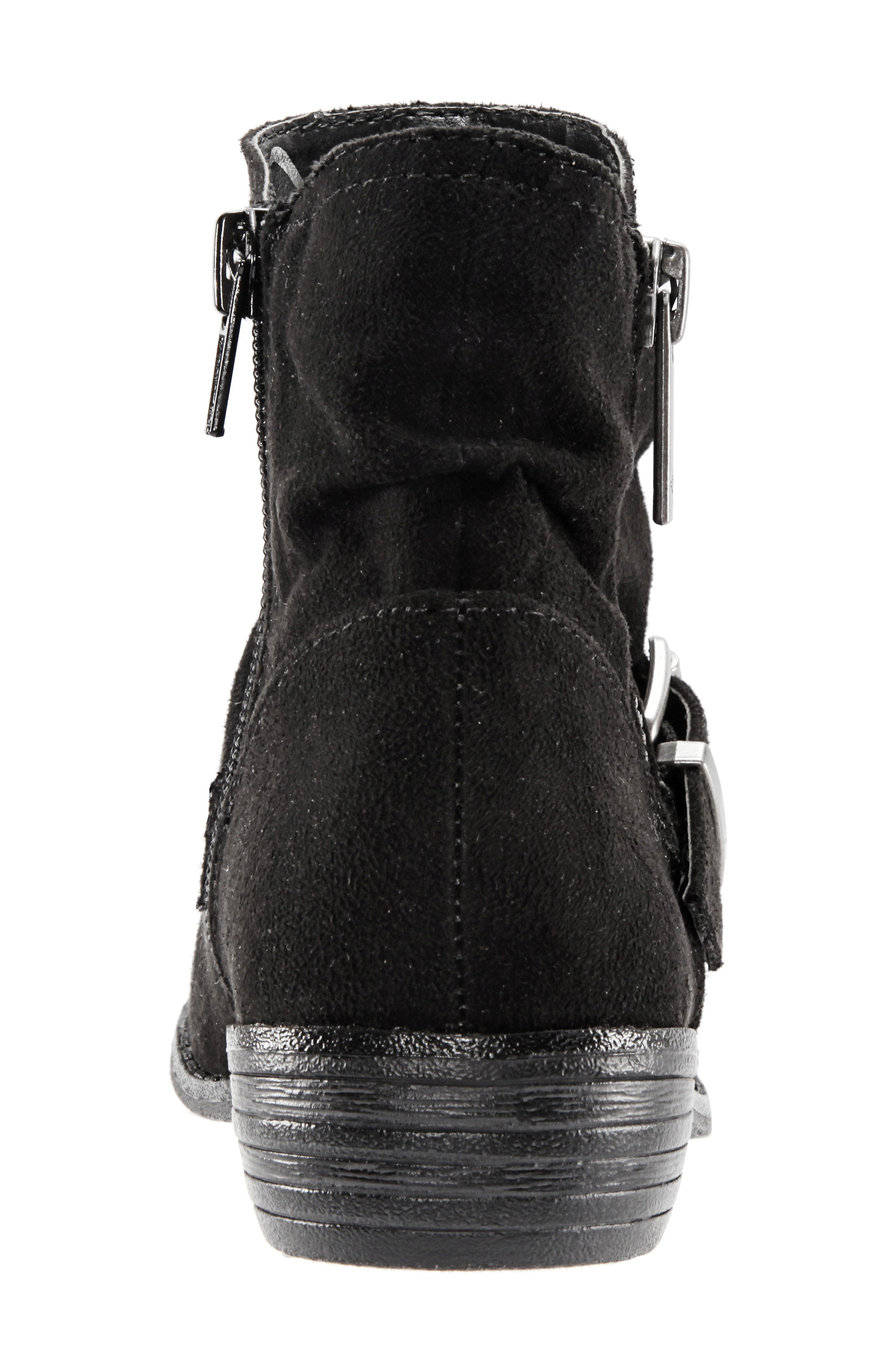 Dorrie Moto Bootie,                             Alternate thumbnail 7, color,                             BLACK BURNISHED