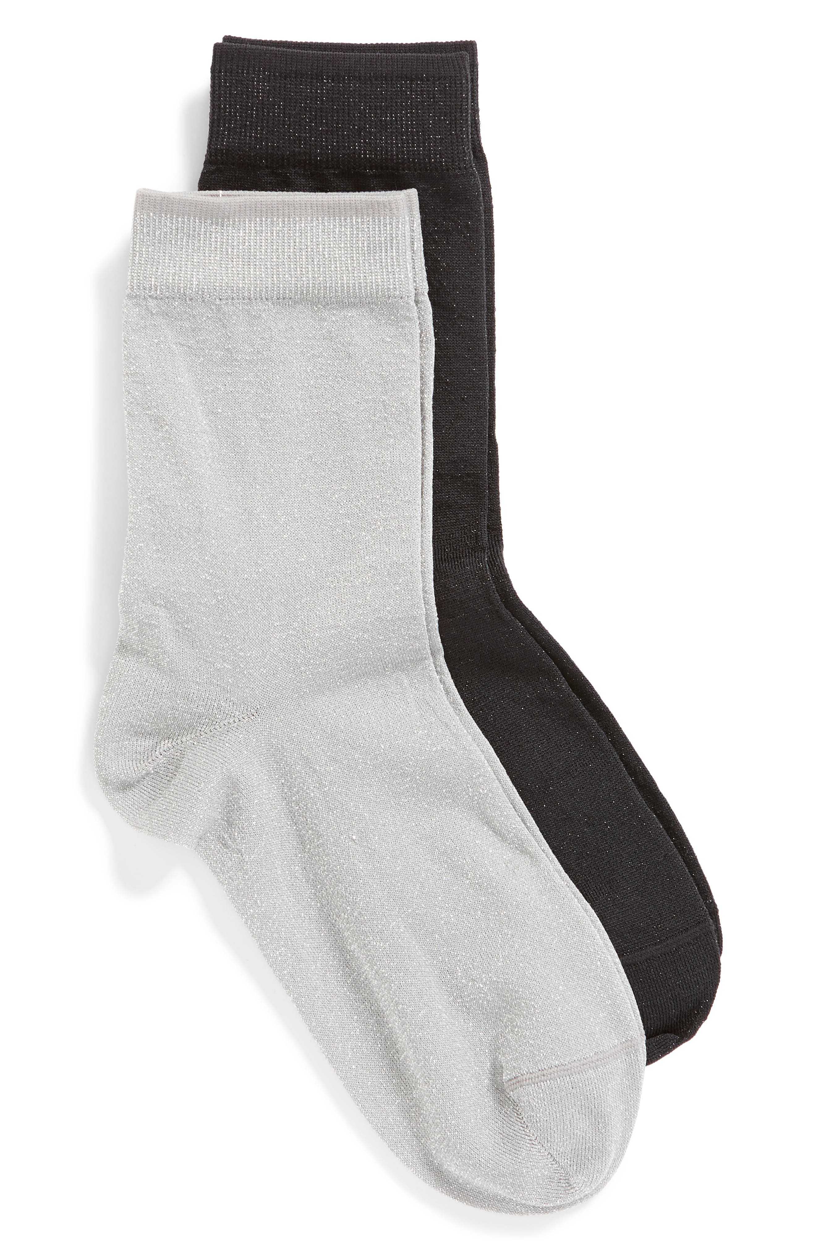 2-Pack Sparkle Crew Socks,                         Main,                         color, 040