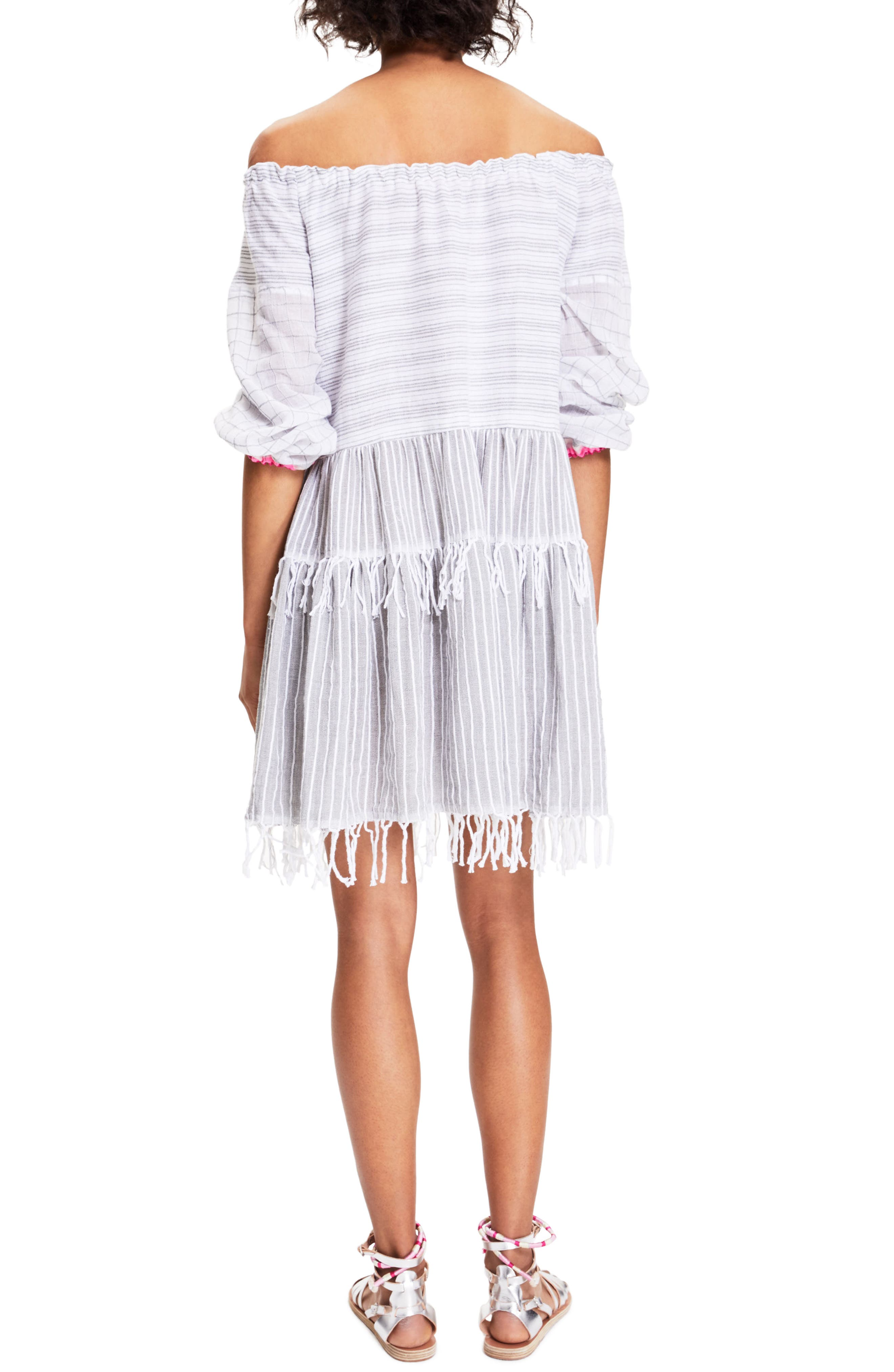 Anana Off the Shoulder Cover-Up Dress,                             Alternate thumbnail 2, color,                             100