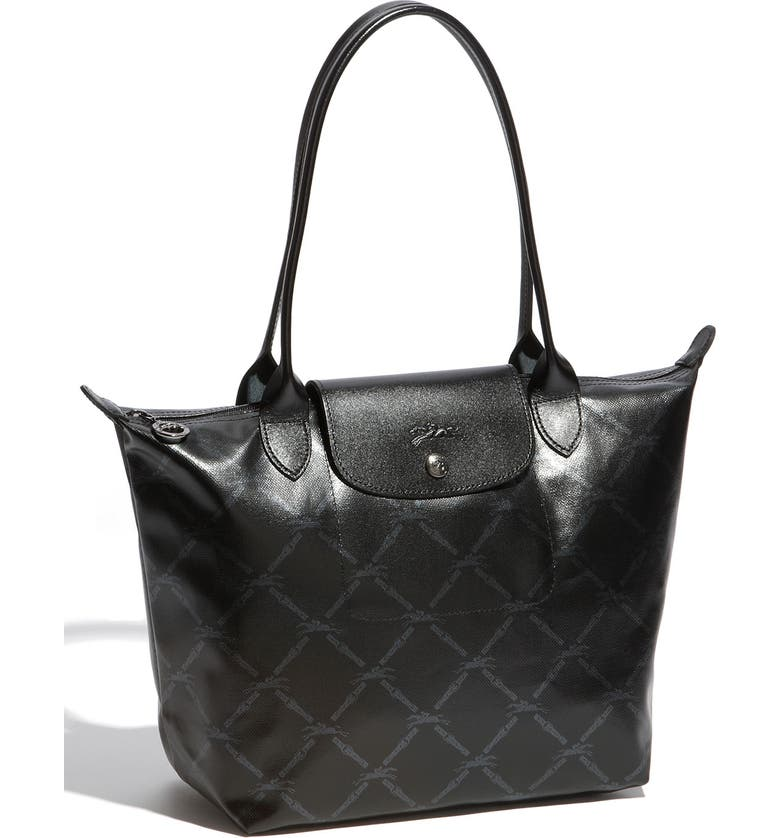 123b36ff325a Longchamp  Medium Metallic Equestrian Grid  Tote