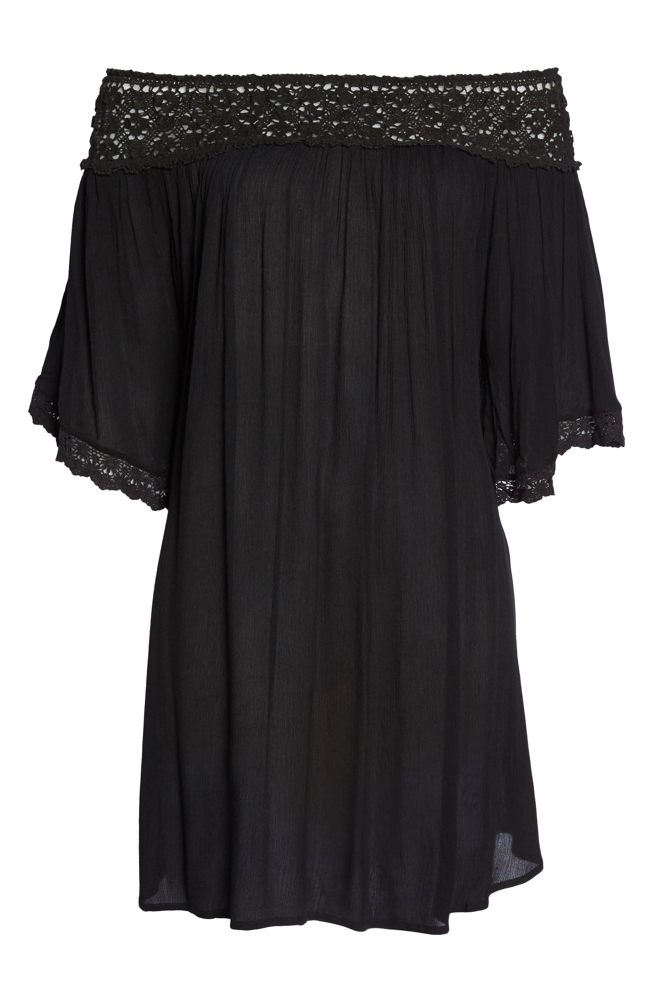 Rimini Crochet Cover-Up Dress,                             Alternate thumbnail 11, color,