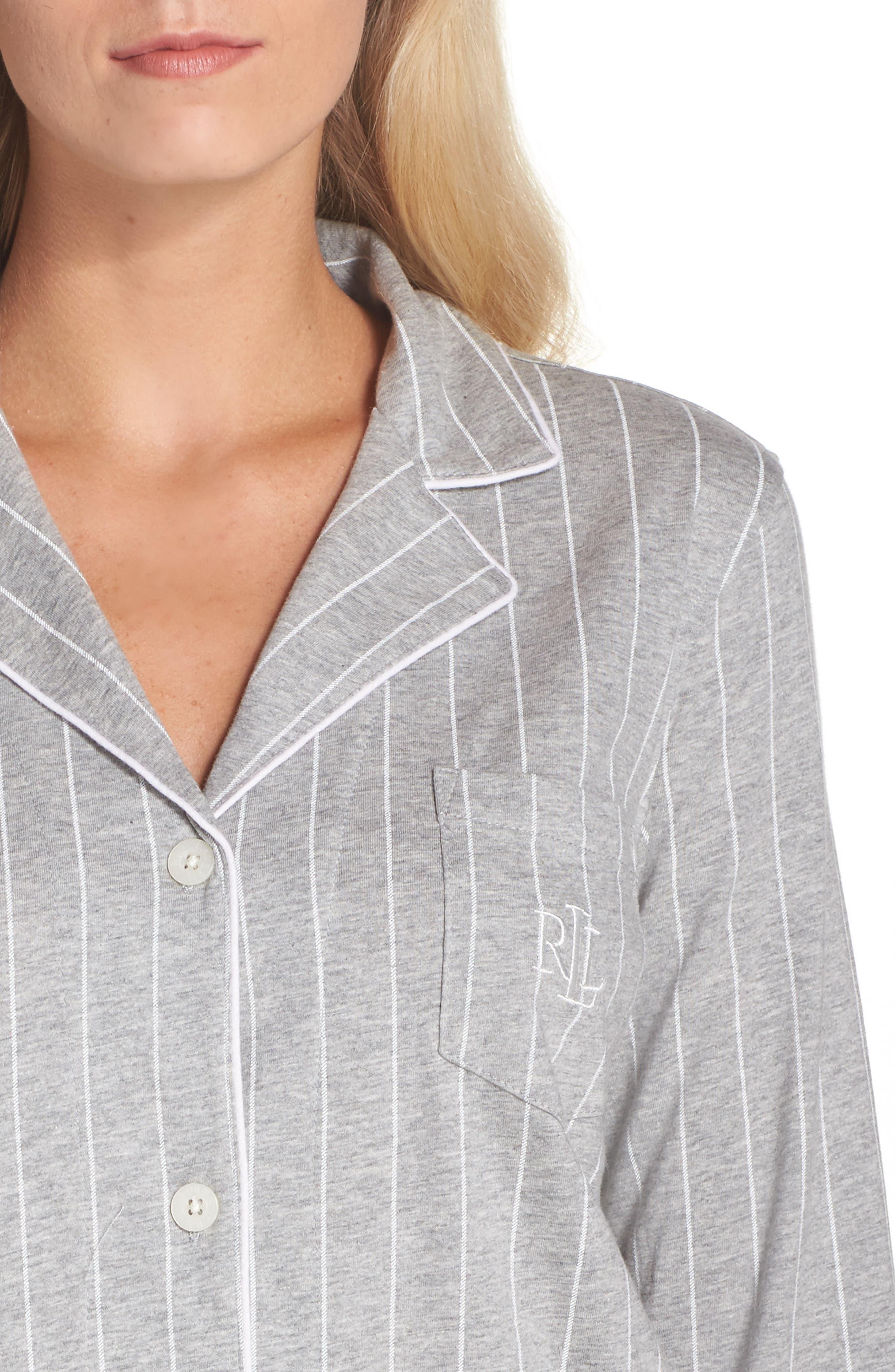 Notch Collar Pajamas,                             Alternate thumbnail 7, color,