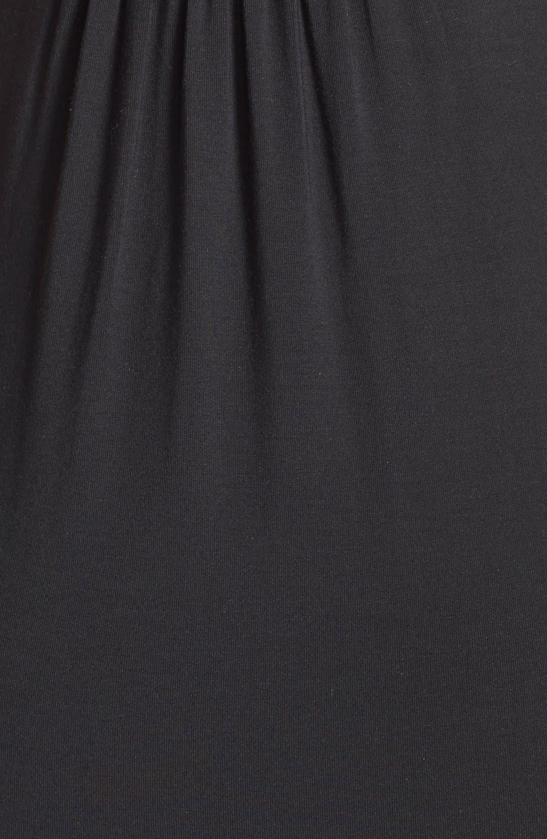'Callie' Jersey Maxi Maternity Dress,                             Alternate thumbnail 4, color,                             BLACK