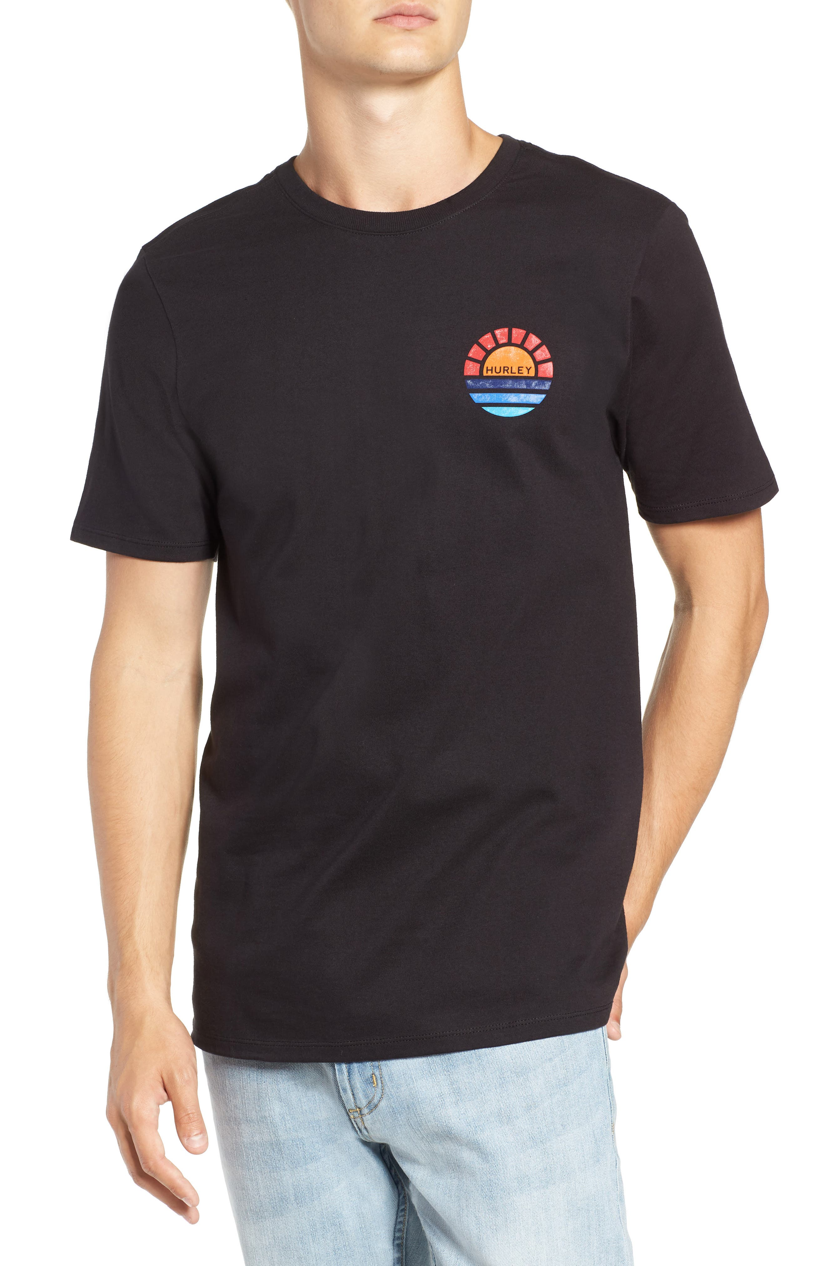 Core Sunset T-Shirt,                         Main,                         color, BLACK
