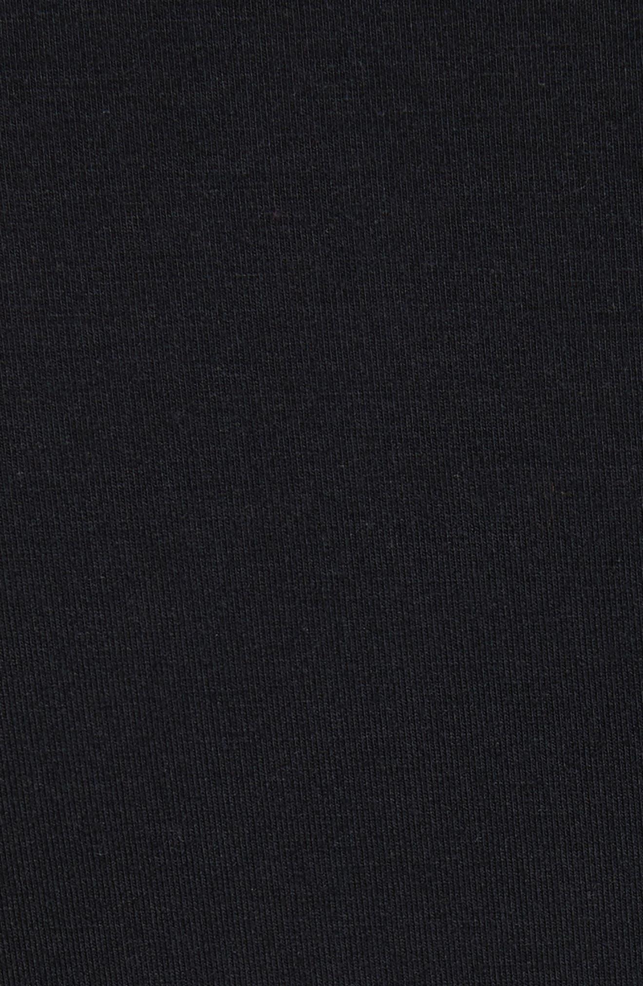 Three Quarter Sleeve Tee,                             Alternate thumbnail 5, color,                             001