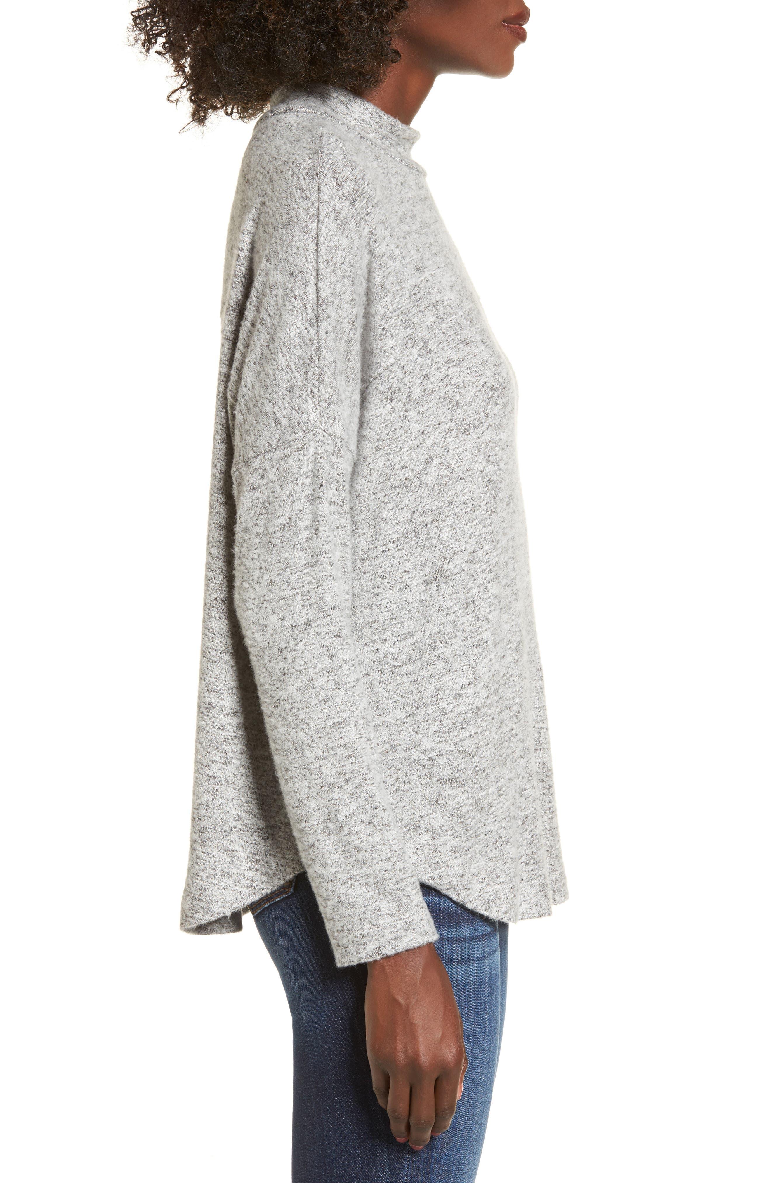 Mock Neck Sweater,                             Alternate thumbnail 3, color,                             020