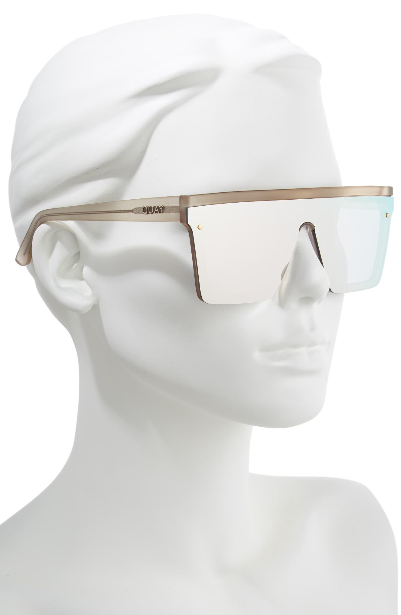 Hindsight 150mm Shield Sunglasses,                             Alternate thumbnail 2, color,                             GOLD/ GOLD