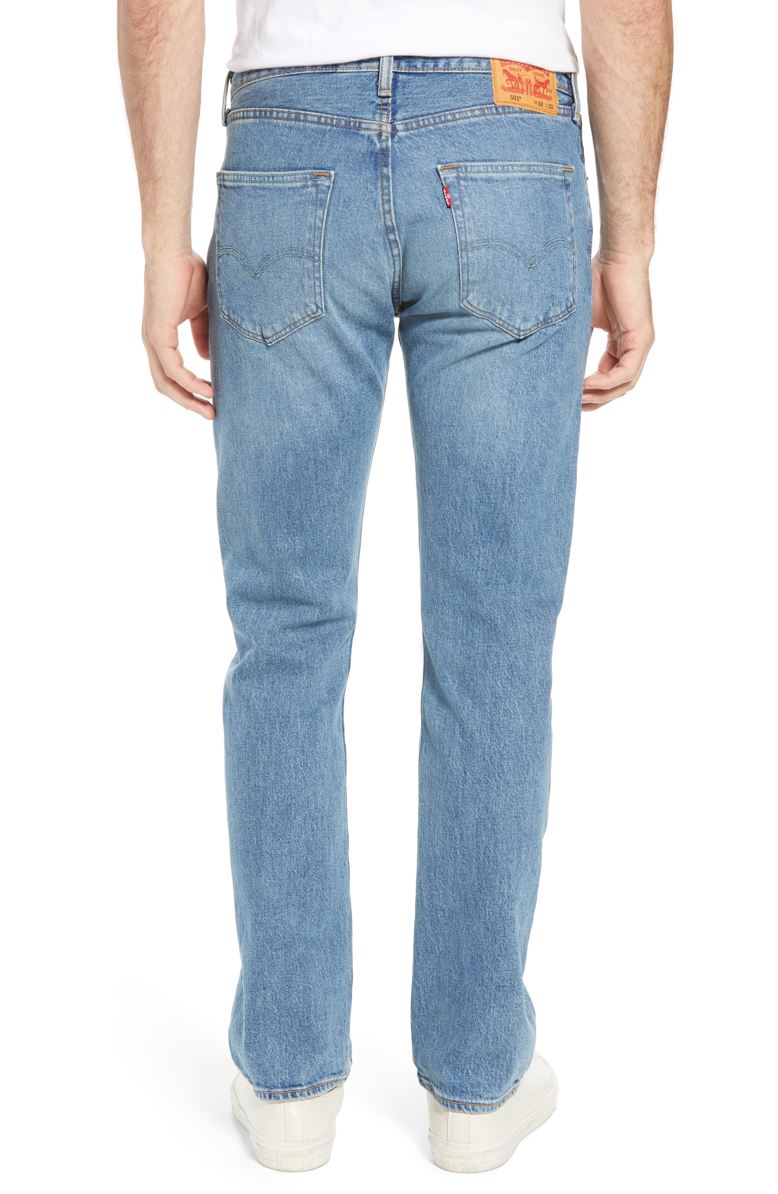 501<sup>®</sup> Original Straight Leg Jeans,                             Alternate thumbnail 2, color,                             421