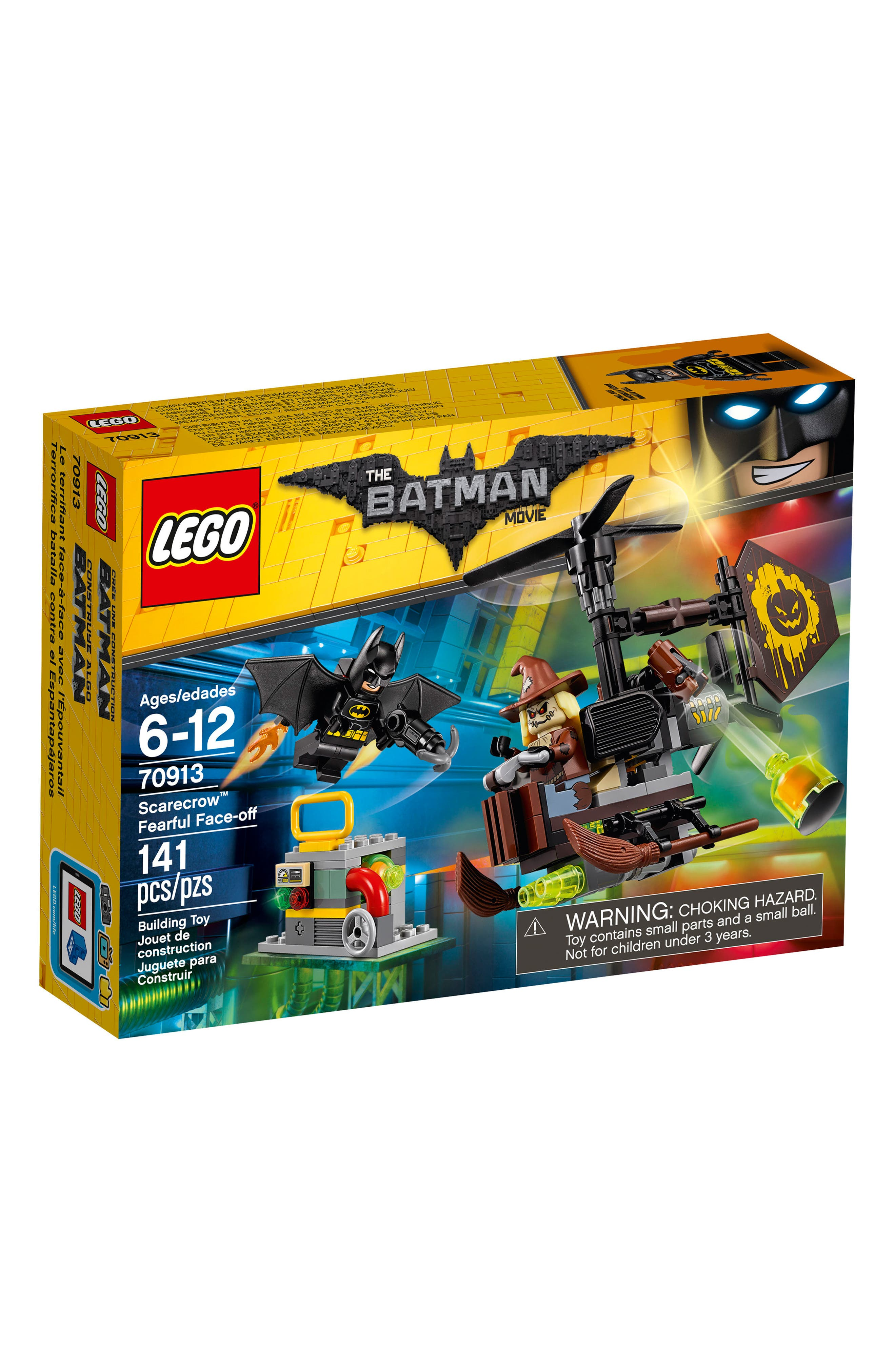 THE LEGO<sup>®</sup> BATMAN MOVIE: Scarecrow<sup>™</sup> Fearful Face-Off Set - 70913,                             Main thumbnail 1, color,                             001