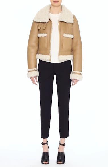 Genuine Shearling Moto Jacket, video thumbnail