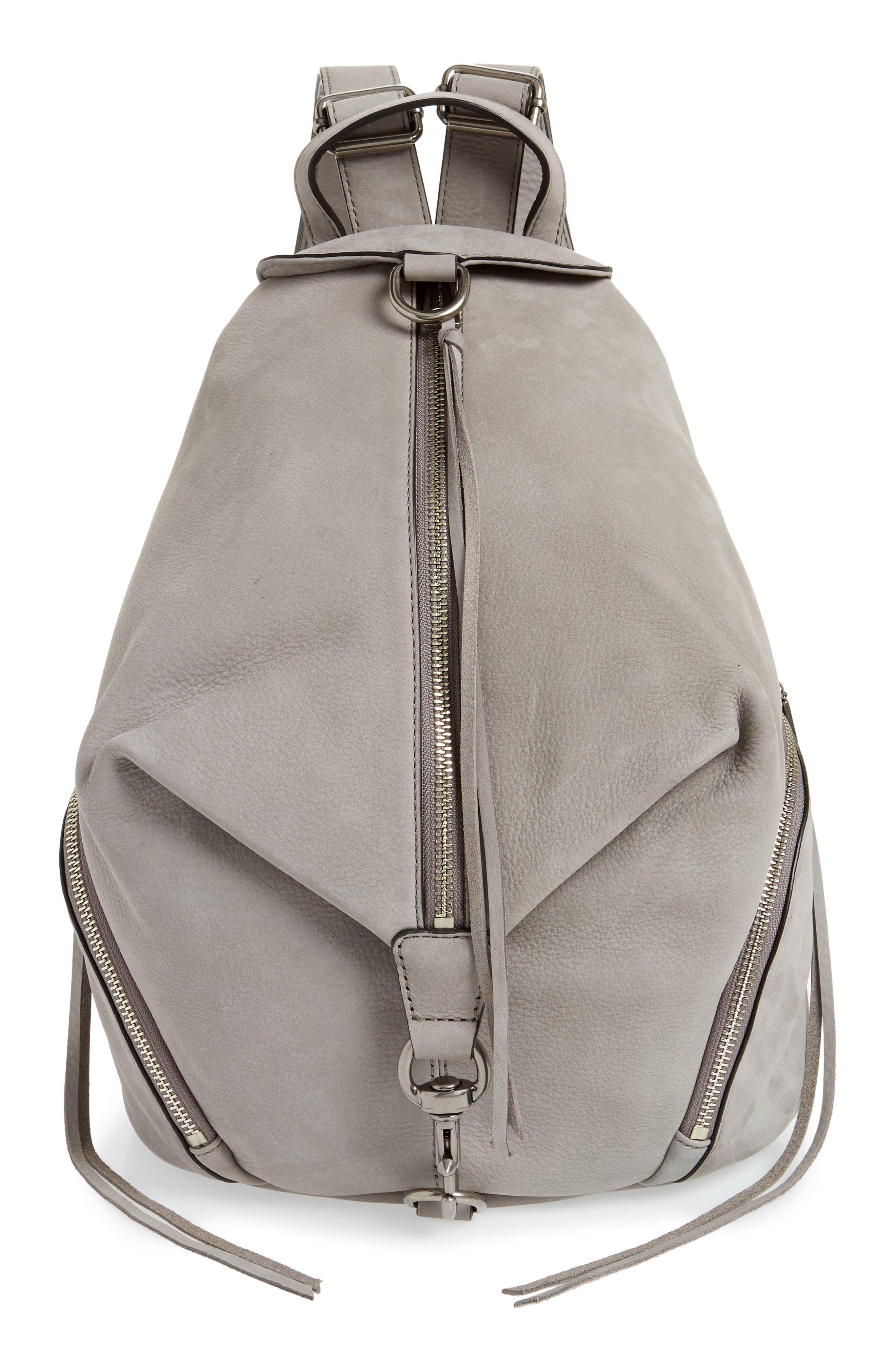 Julian Nubuck Leather Backpack,                         Main,                         color, GREY