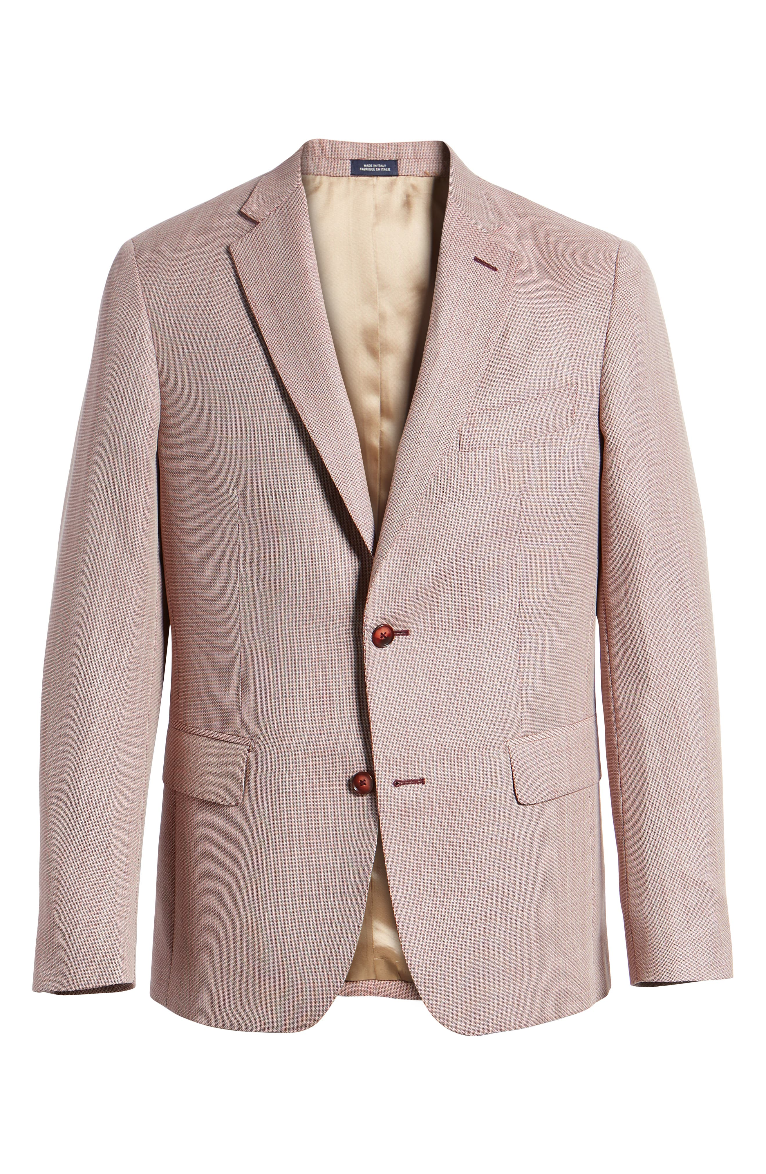 Traditional Fit Wool Sport Coat,                             Alternate thumbnail 5, color,                             610