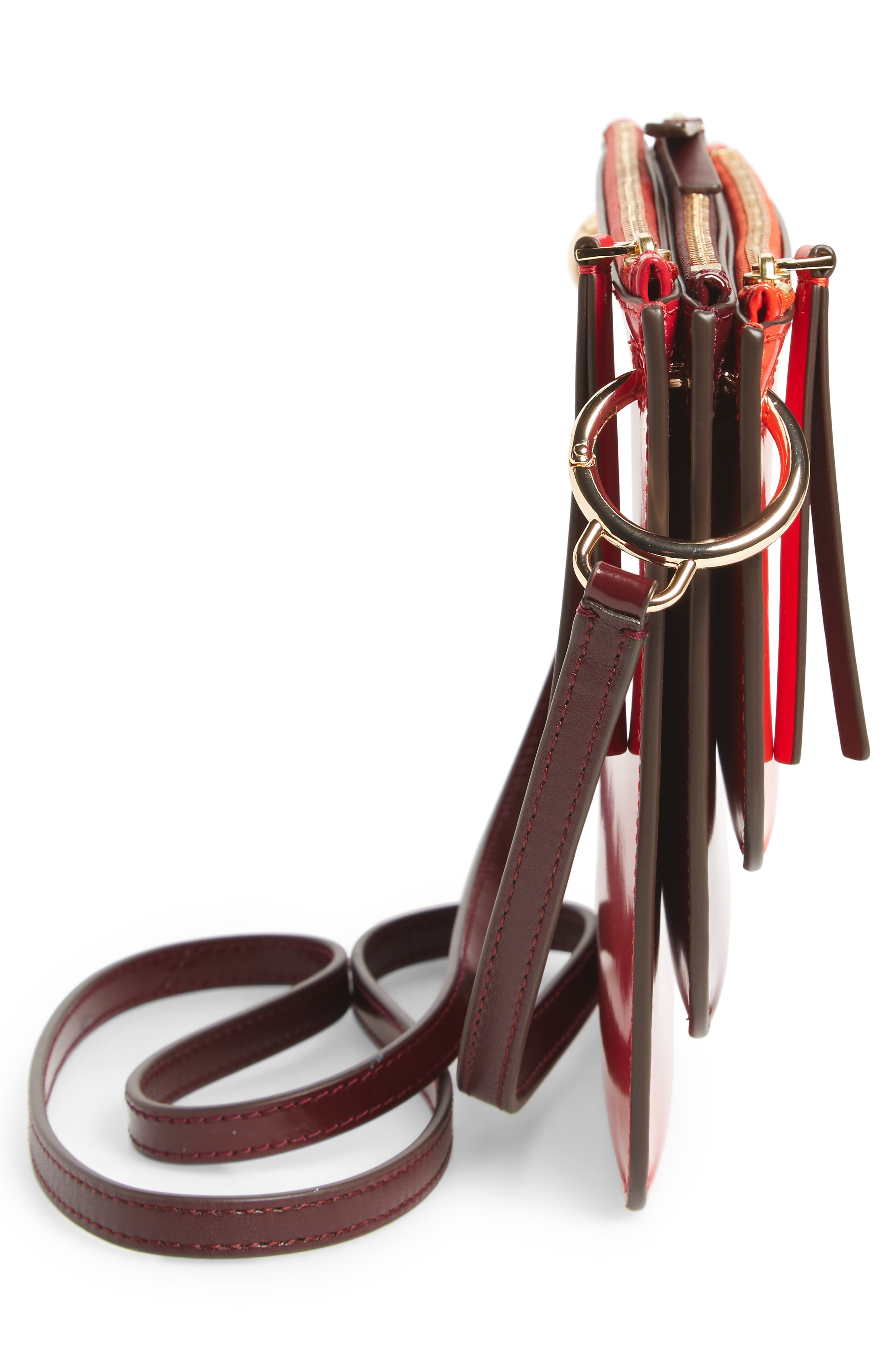 Leather Accordion Crossbody Bag,                             Alternate thumbnail 10, color,