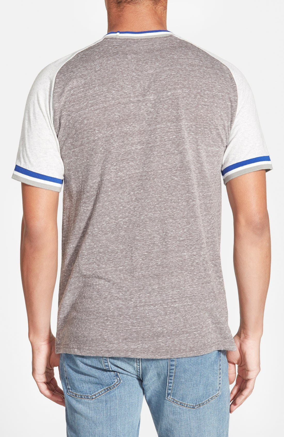 'Los Angeles Dodgers - No Hitter' Tailored Fit Graphic T-Shirt,                             Alternate thumbnail 2, color,                             050