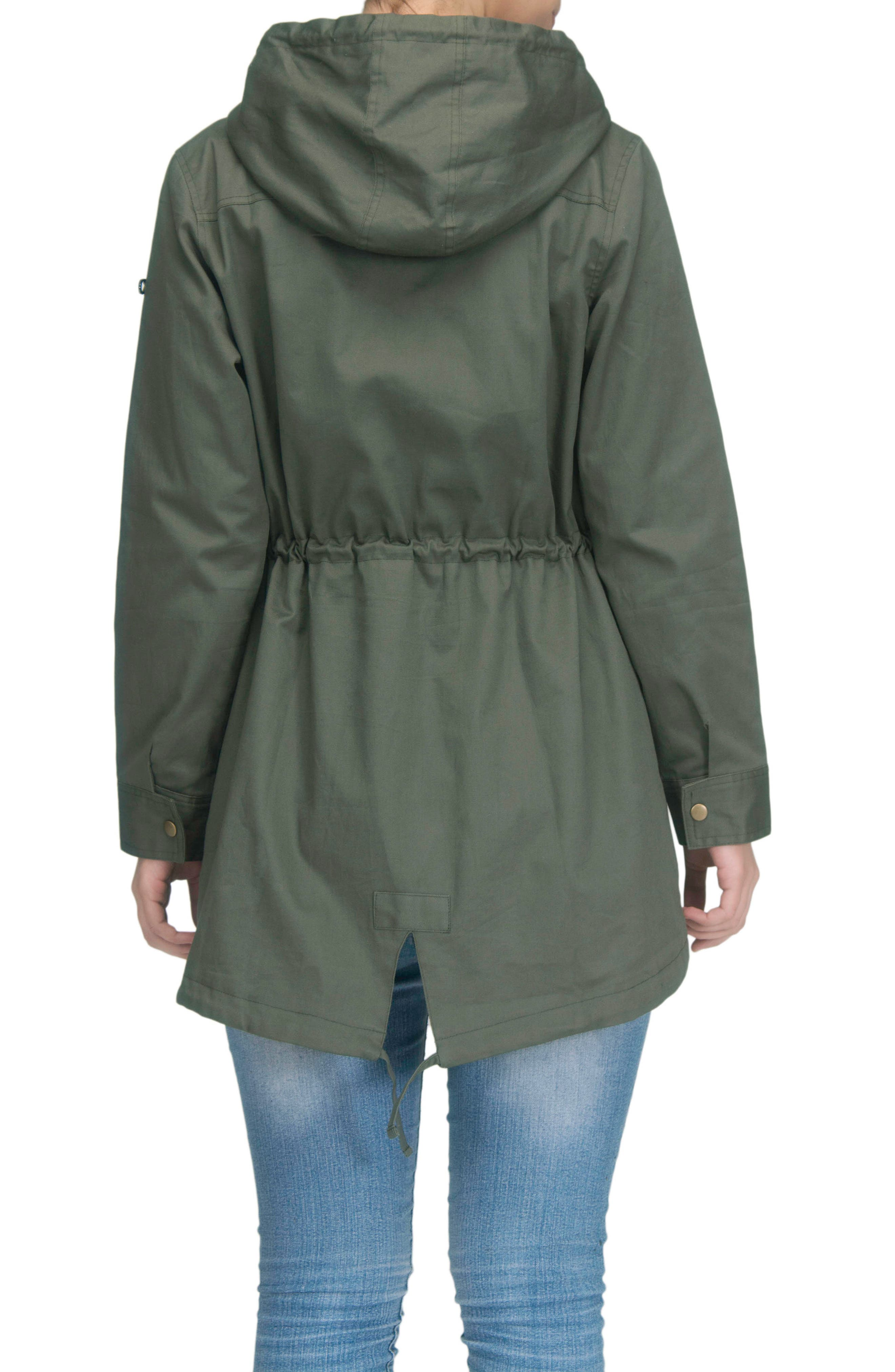 Convertible Military 3-in-1 Maternity/Nursing Jacket,                             Alternate thumbnail 4, color,                             KHAKI GREEN