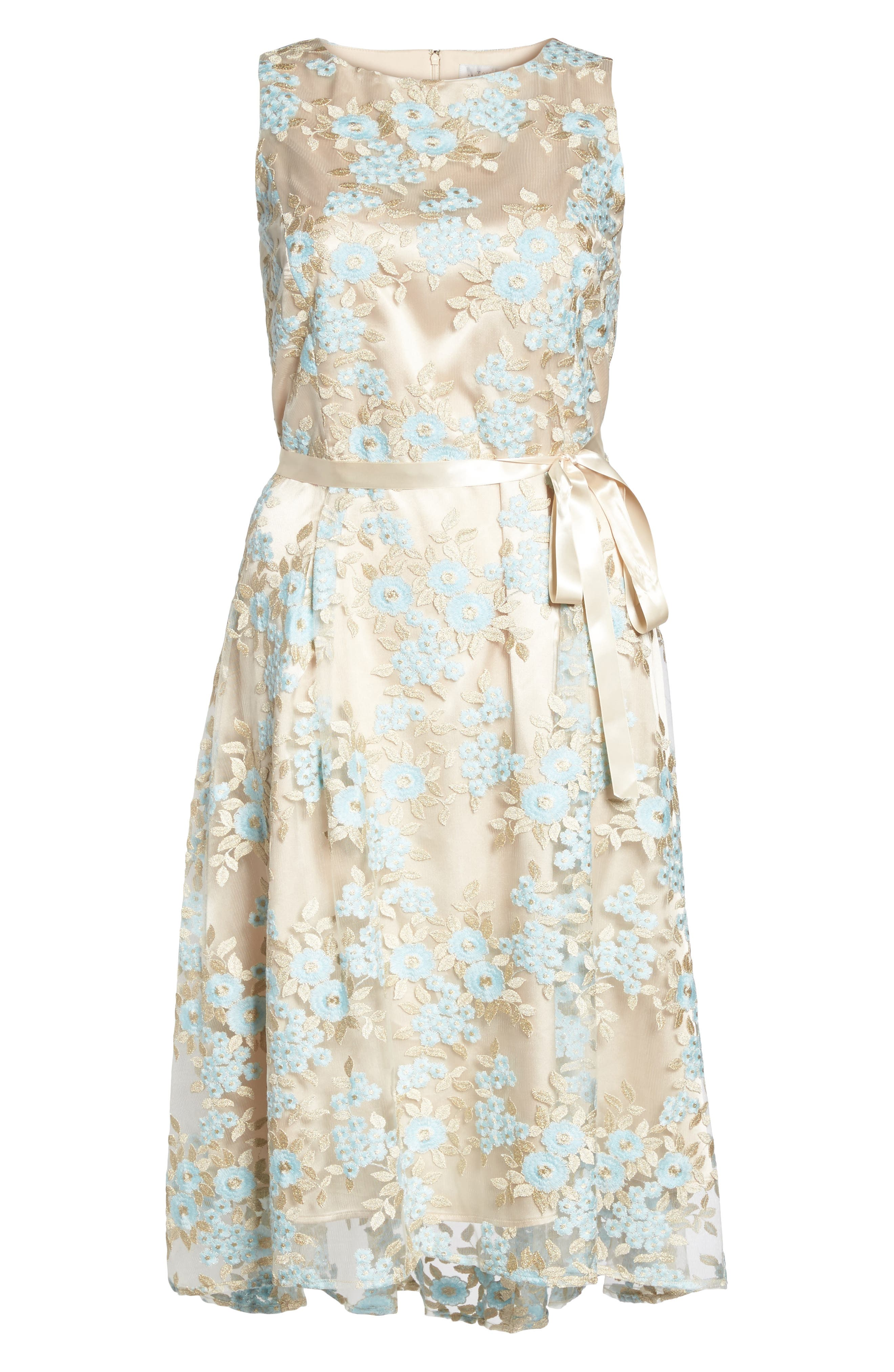 Lace Sleeveless Dress,                             Alternate thumbnail 6, color,                             434