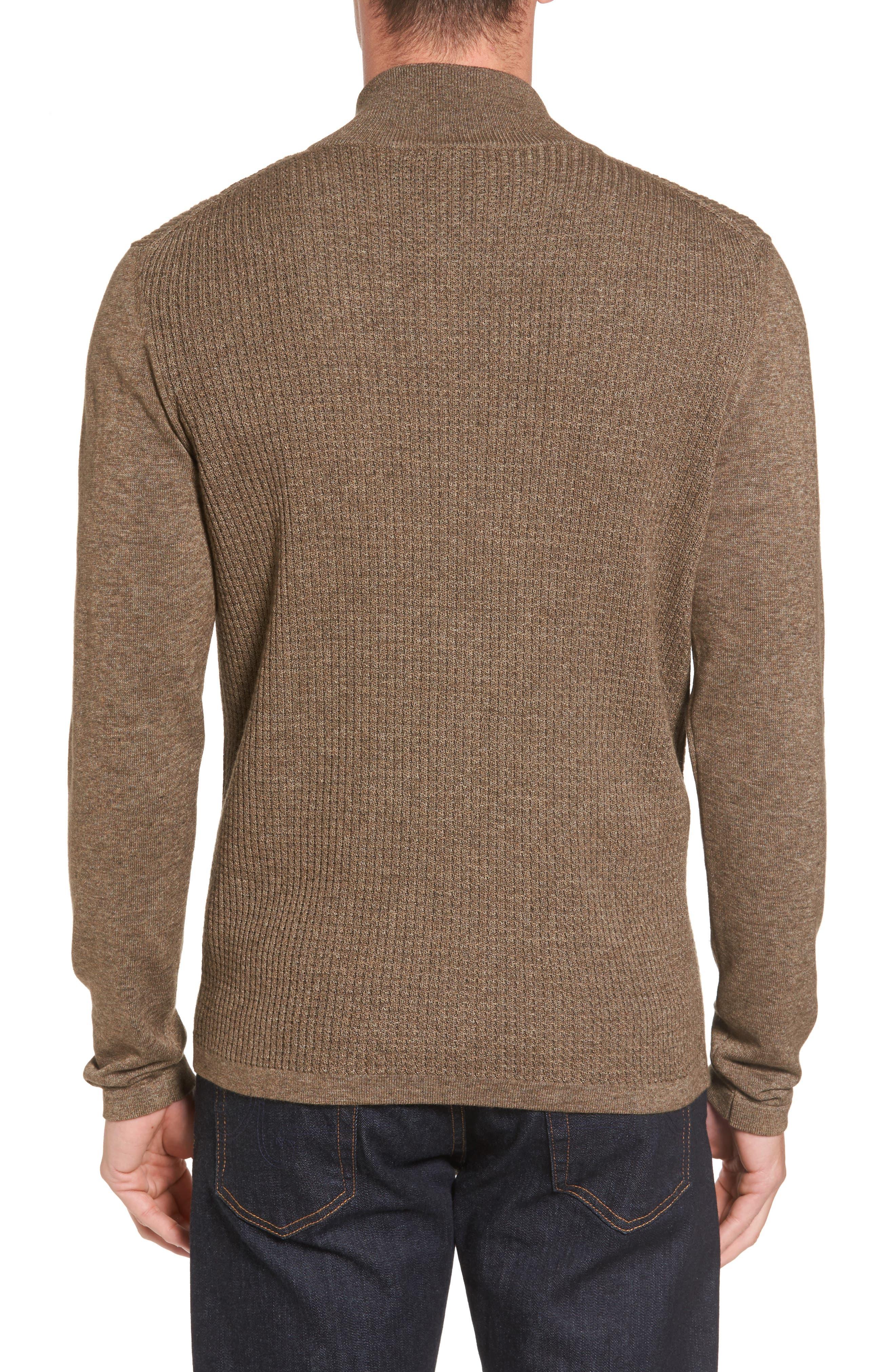 Higgins Quarter Zip Sweater,                             Alternate thumbnail 5, color,