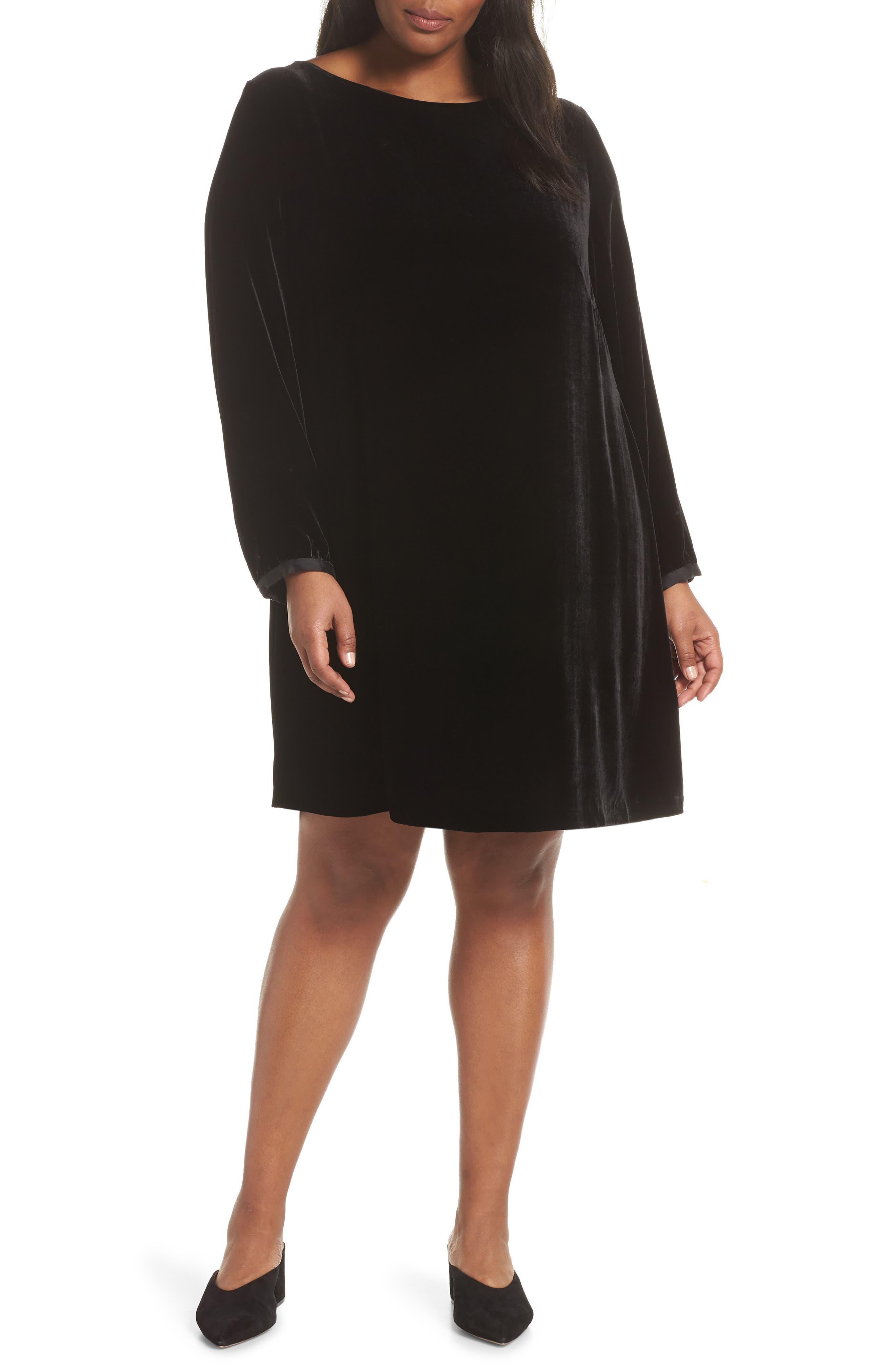 Eileen Fisher Dresses VELVET SHIFT DRESS