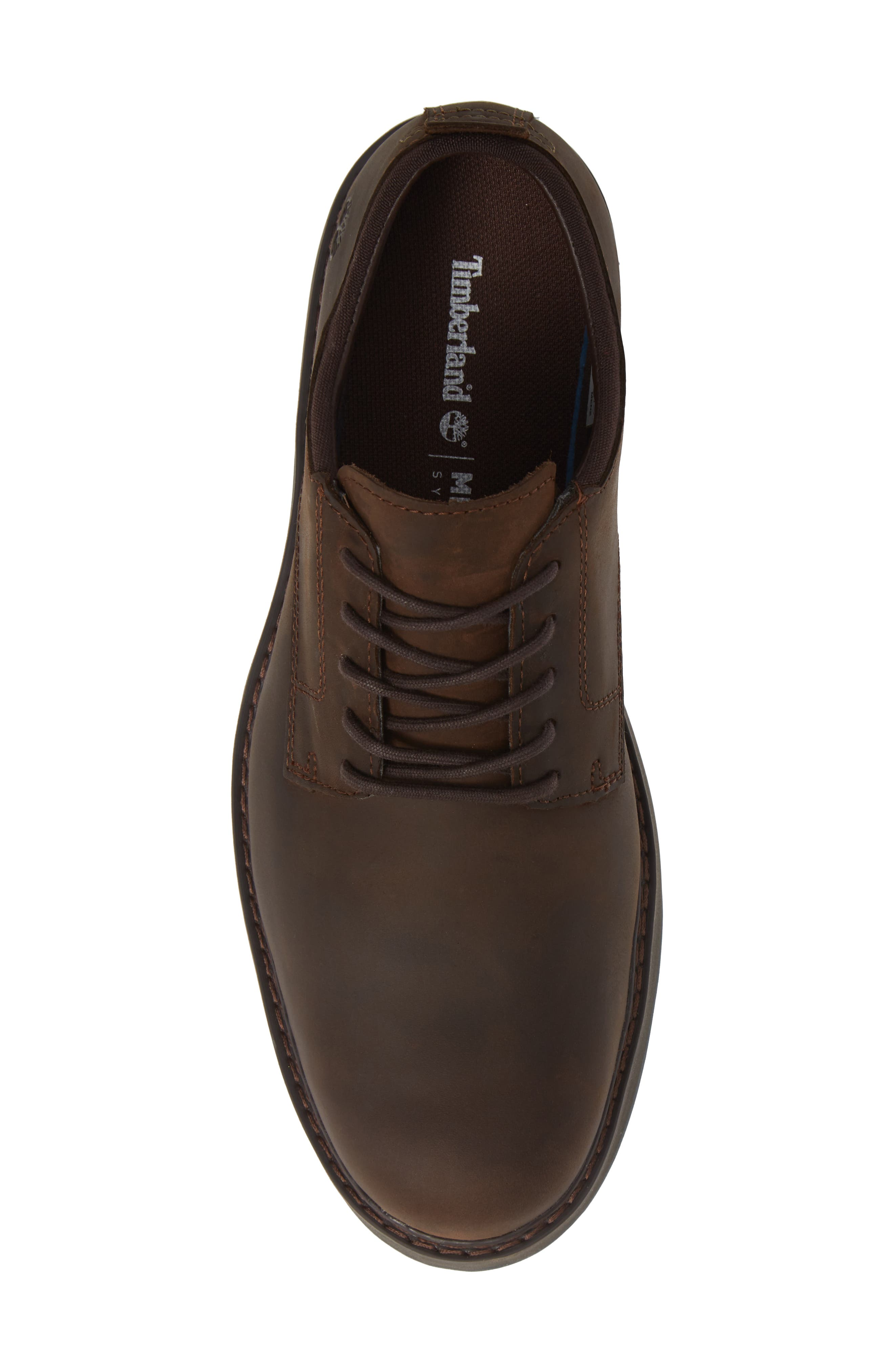Squall Canyon Waterproof Plain Toe Derby,                             Alternate thumbnail 5, color,                             BROWN LEATHER