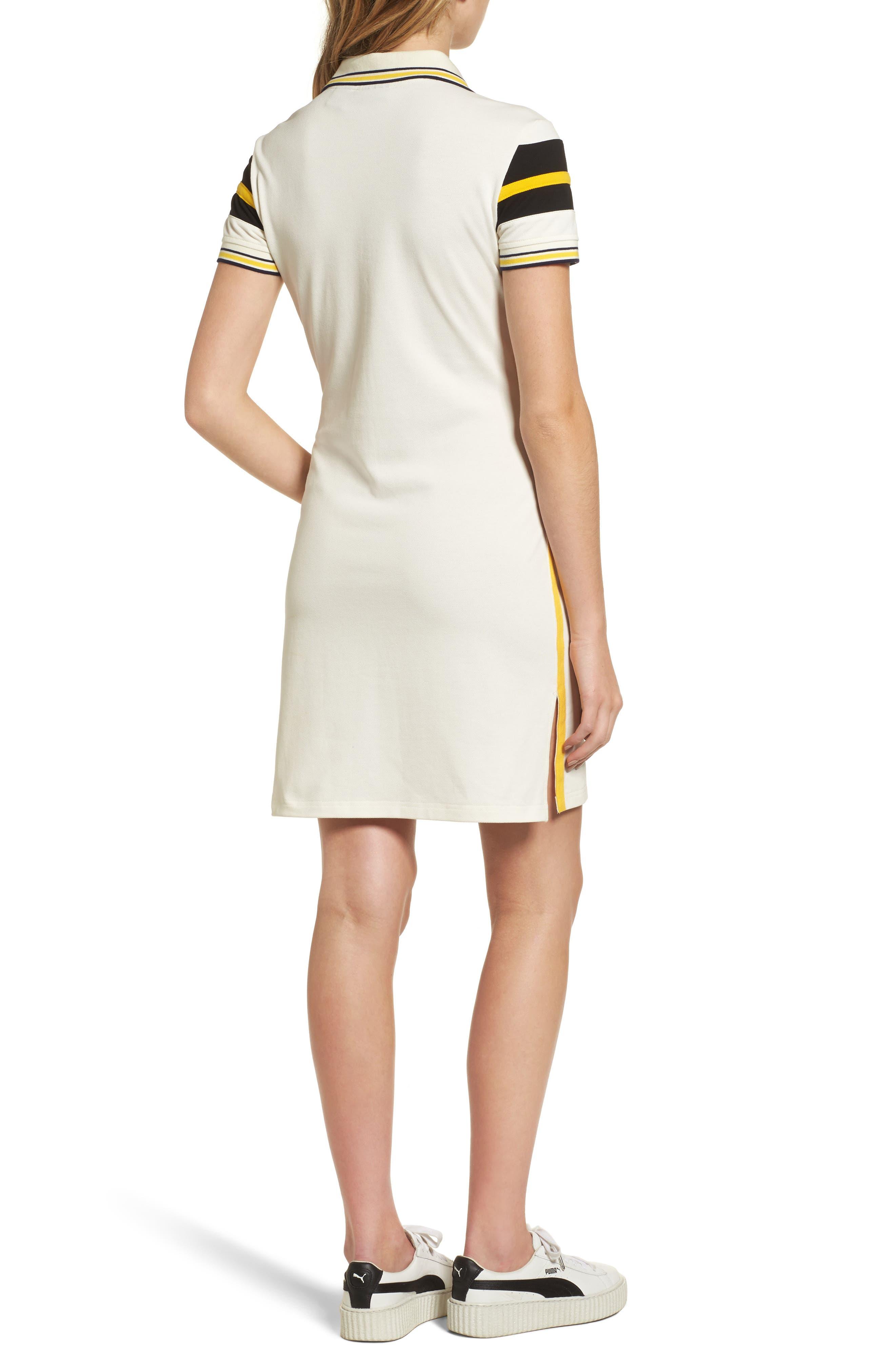 FENTY PUMA by Rihanna Jersey Polo Dress,                             Alternate thumbnail 2, color,                             100