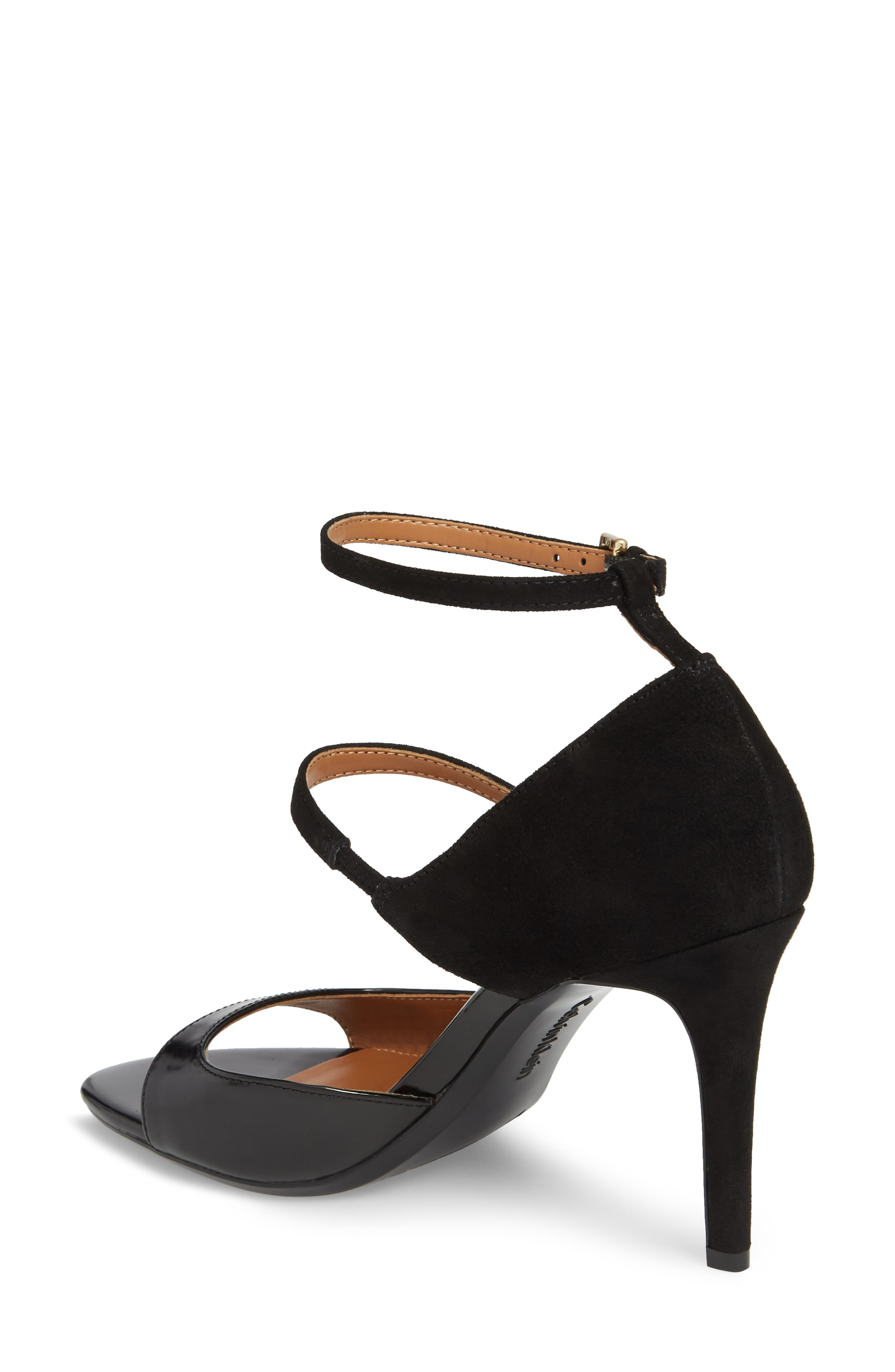 Nadeen Strappy Sandal,                             Alternate thumbnail 2, color,                             BLACK LEATHER