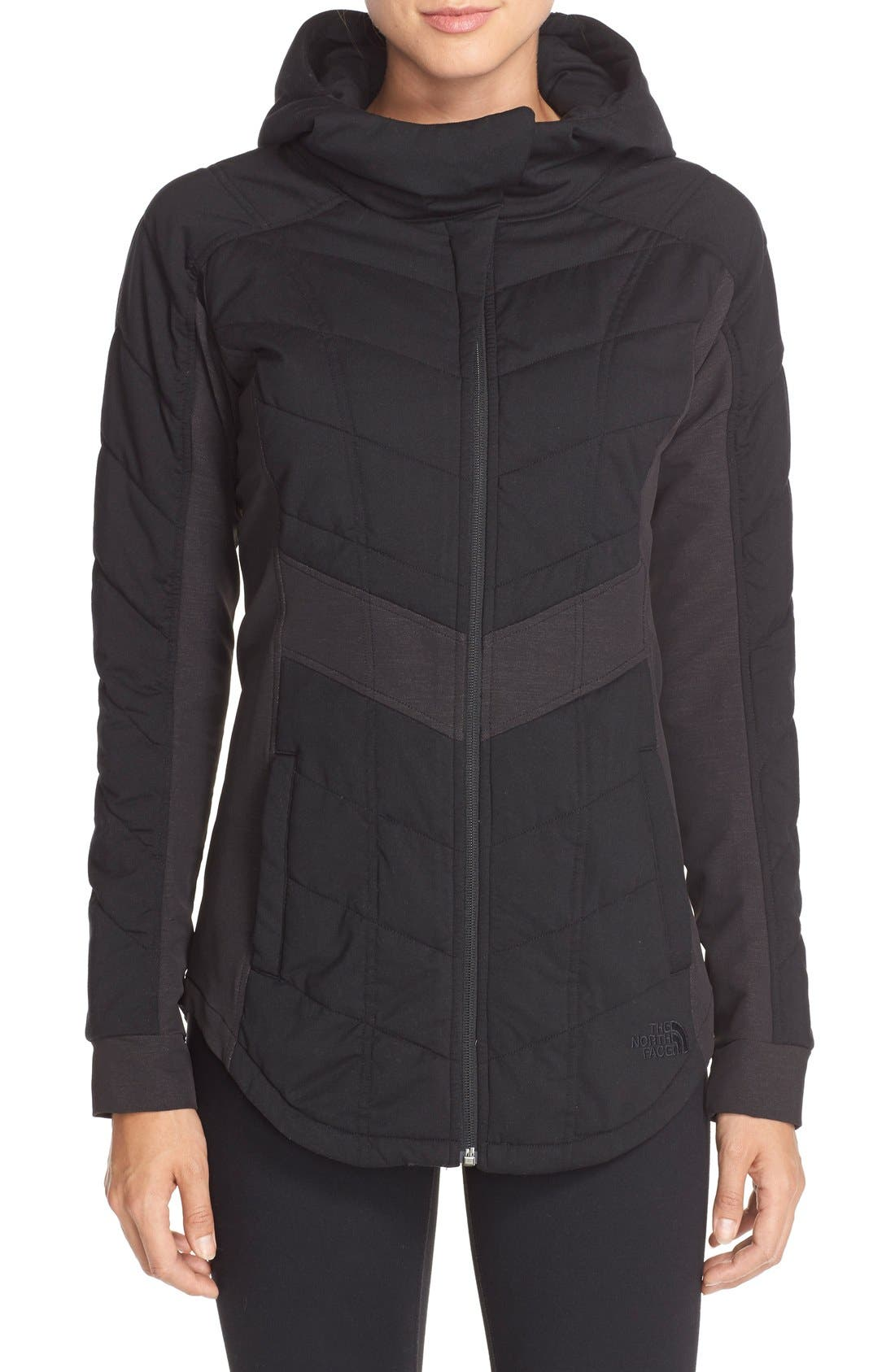 THE NORTH FACE 'Pseudio' Hooded Jacket, Main, color, 001