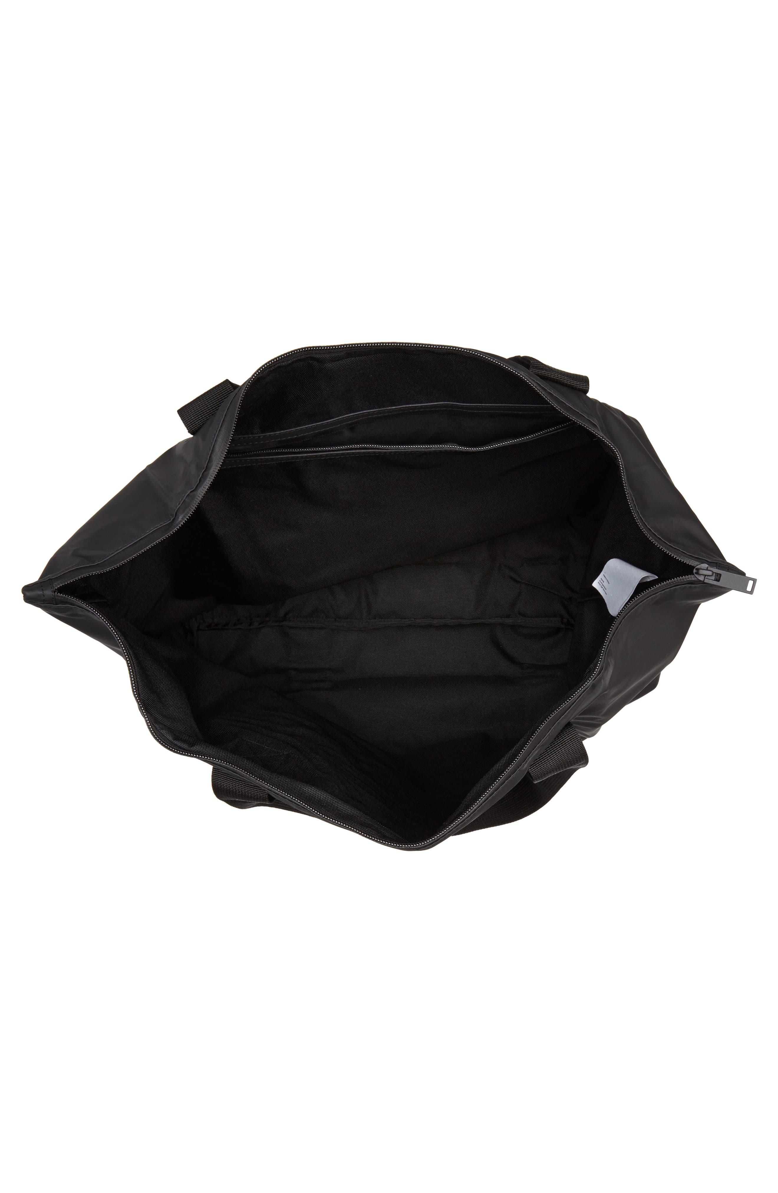 Waterproof Tote Bag,                             Alternate thumbnail 4, color,                             BLACK