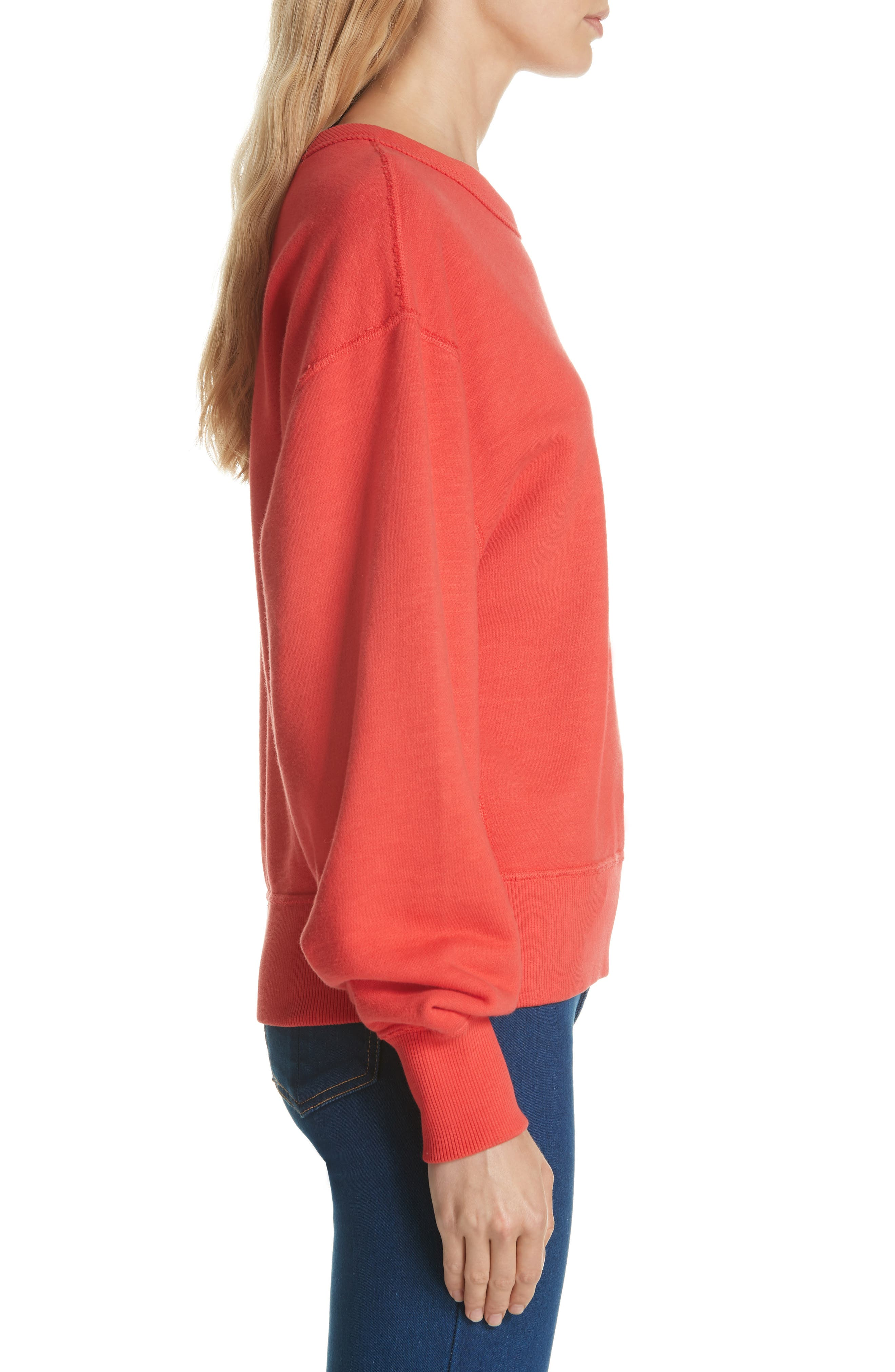 Hello Sweatshirt,                             Alternate thumbnail 3, color,                             CANDY APPLE