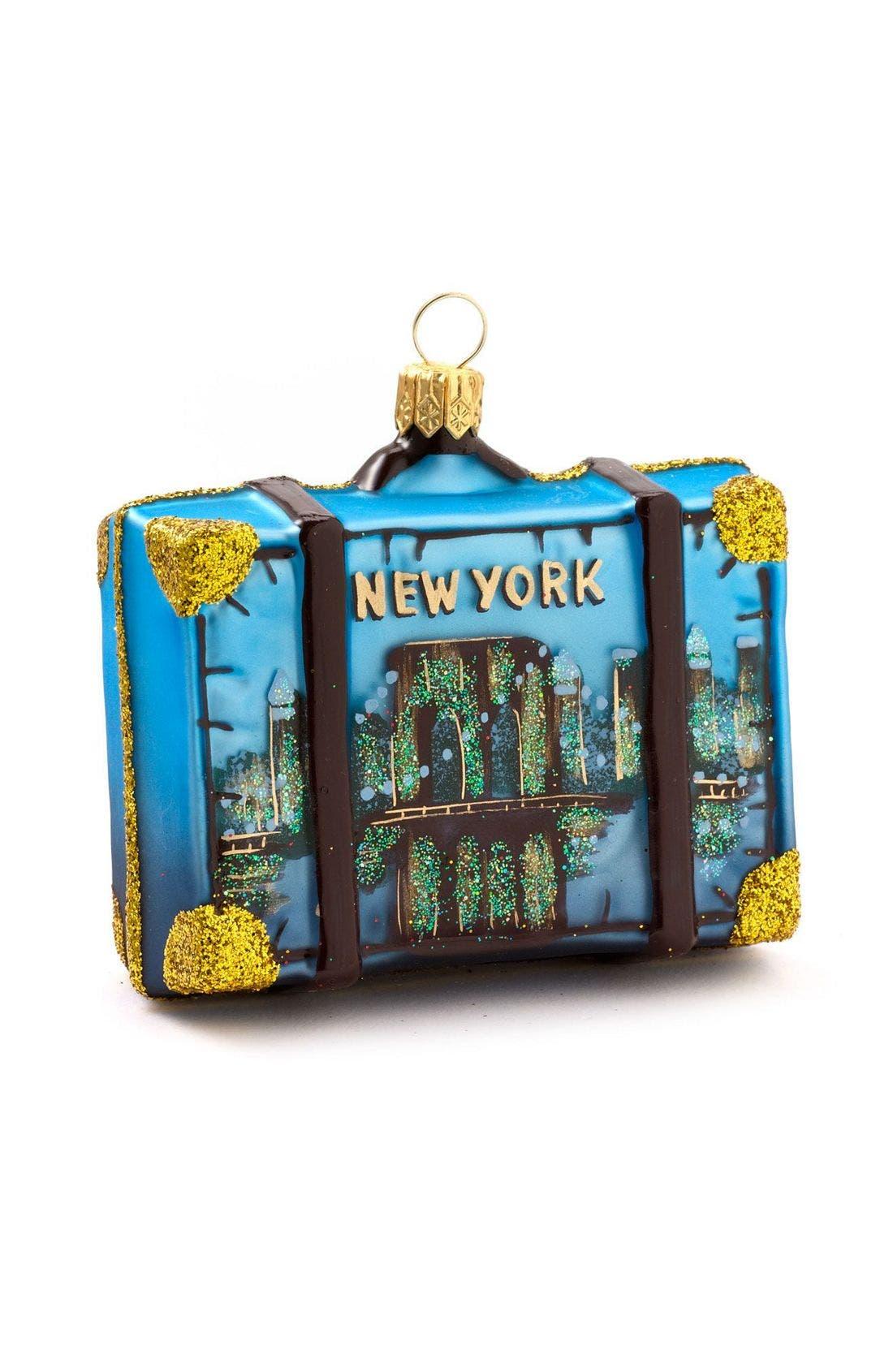 Nordstrom 'Washington D.C.' Glass Suitcase Ornament, Main, color, 960