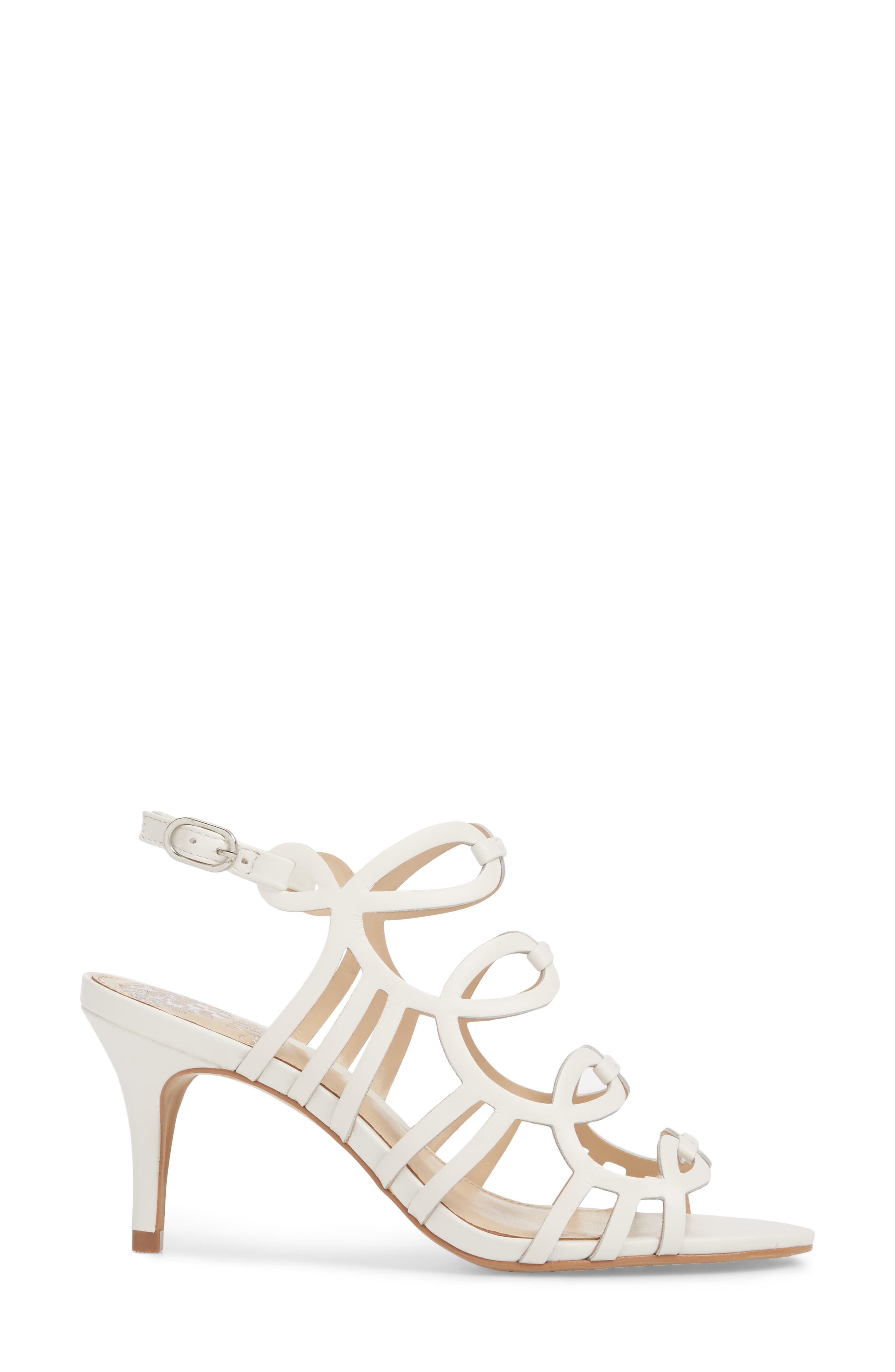 Petina Sandal,                             Alternate thumbnail 3, color,                             WHITE LEATHER