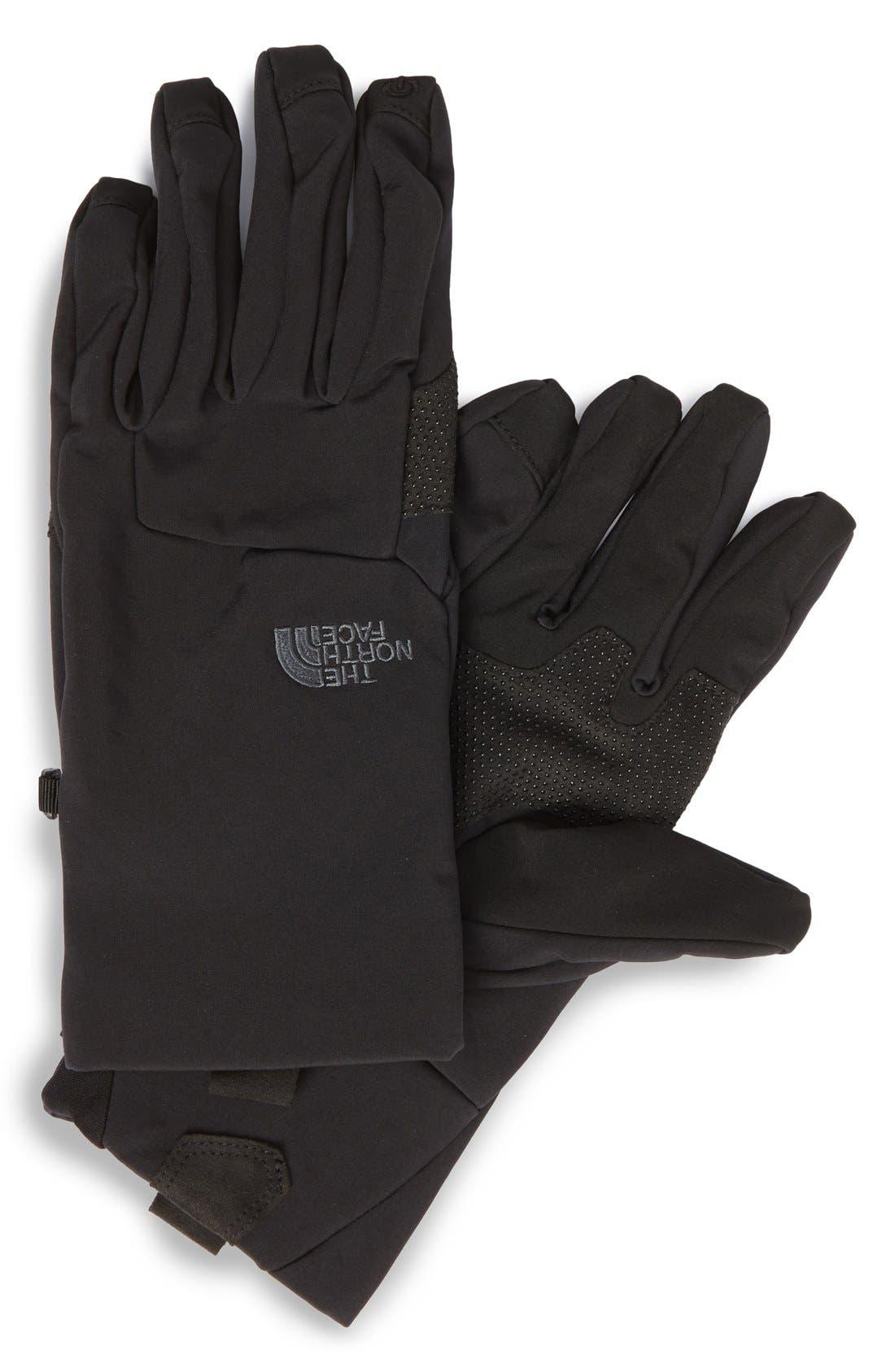 eTip Apex ClimateBlock Gloves,                             Main thumbnail 1, color,                             001