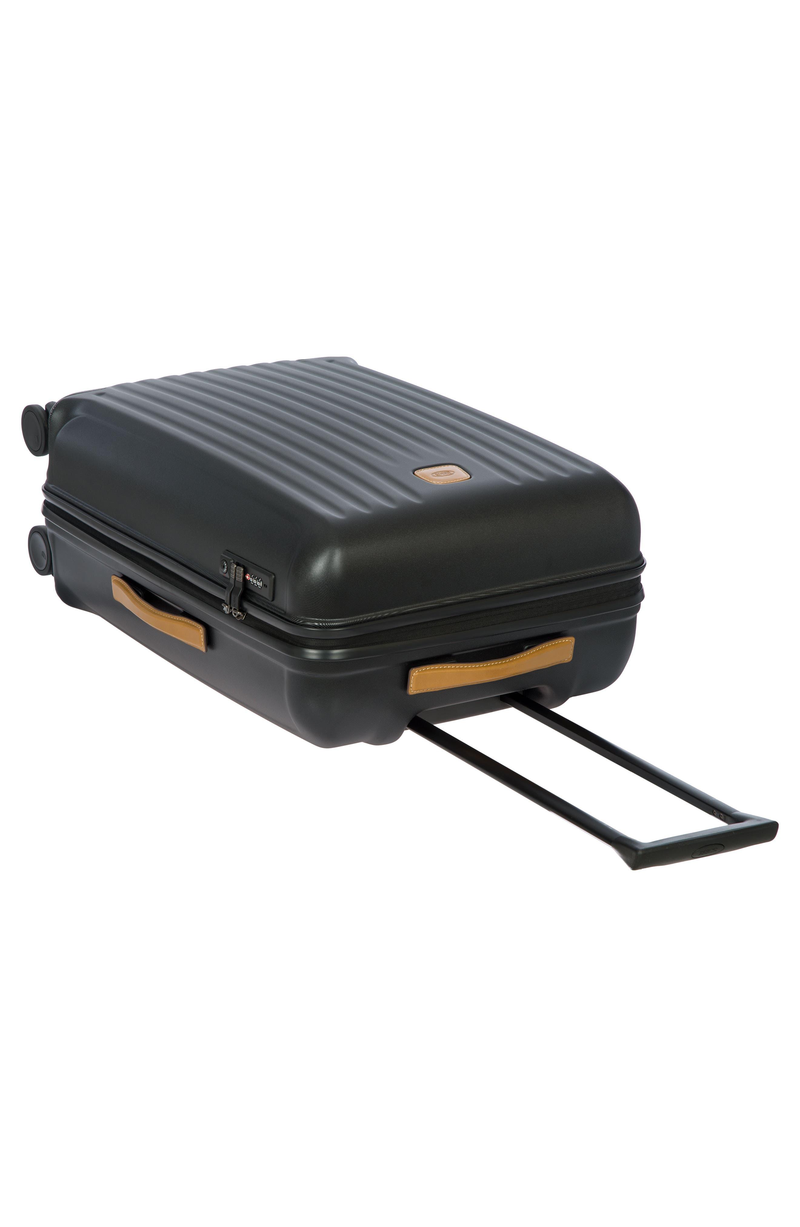 Capri 27-Inch Rolling Suitcase,                             Alternate thumbnail 8, color,                             MATTE BLACK